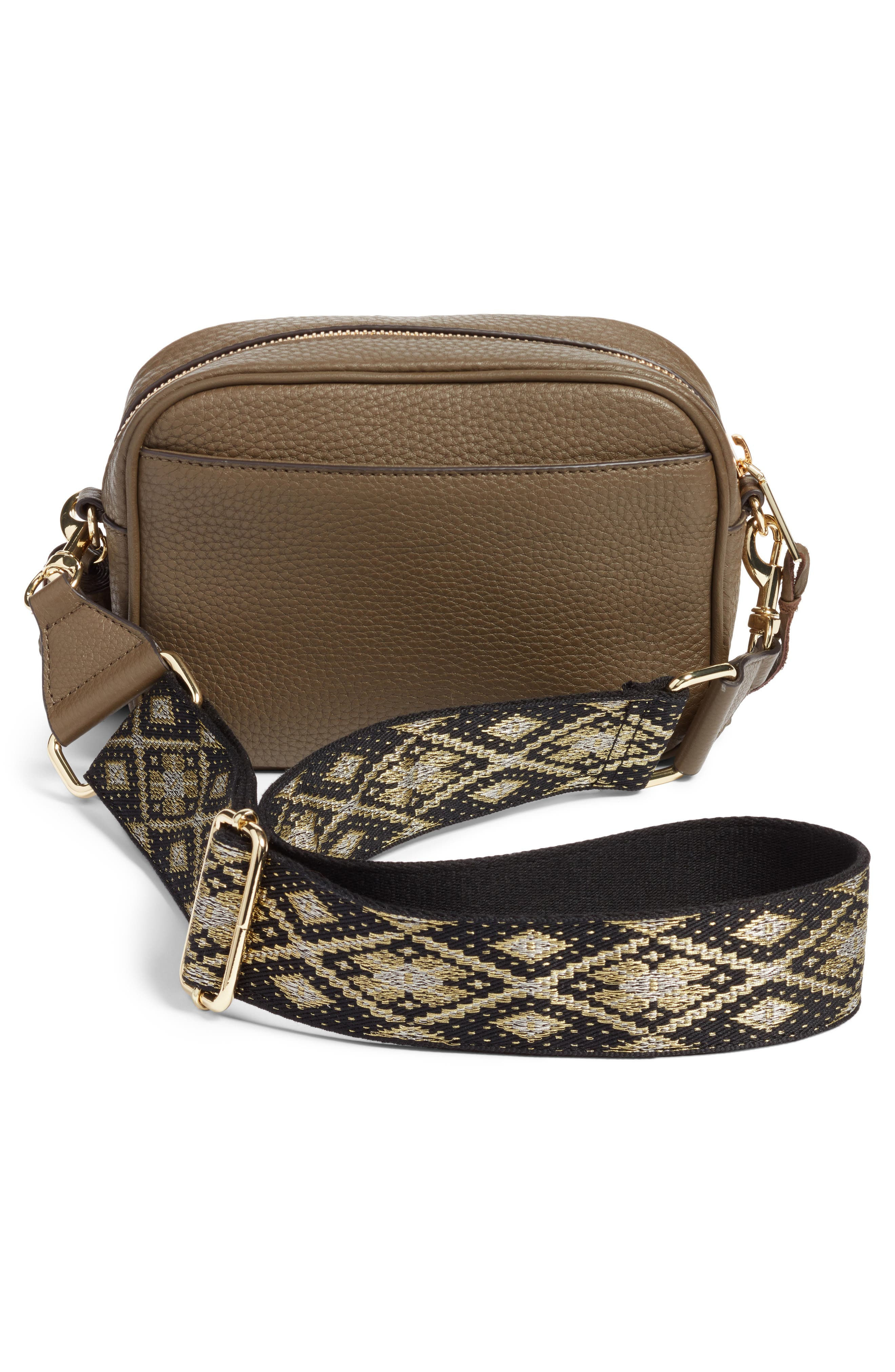 Leather Camera Bag with Guitar Strap,                             Alternate thumbnail 9, color,