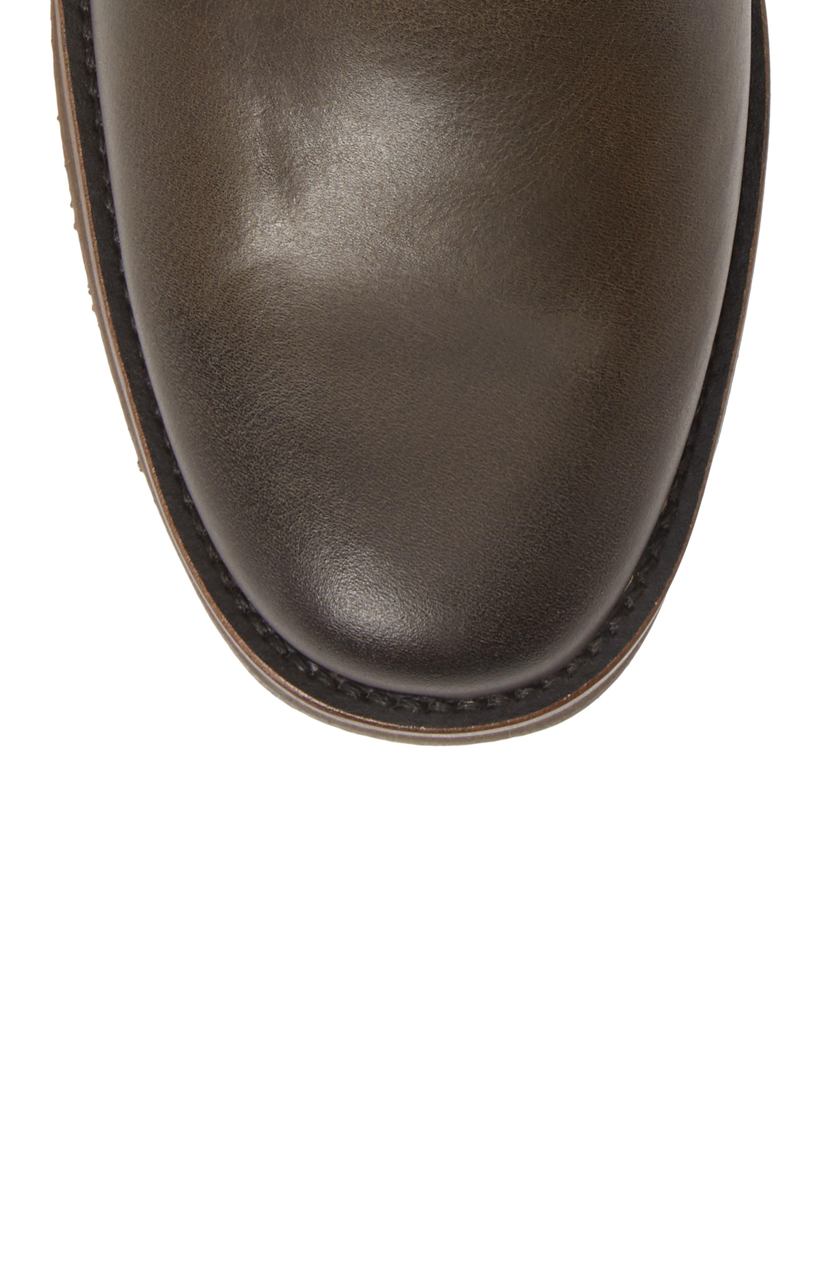 Brooklyn Plain Toe Boot,                             Alternate thumbnail 5, color,                             BLACK LEATHER