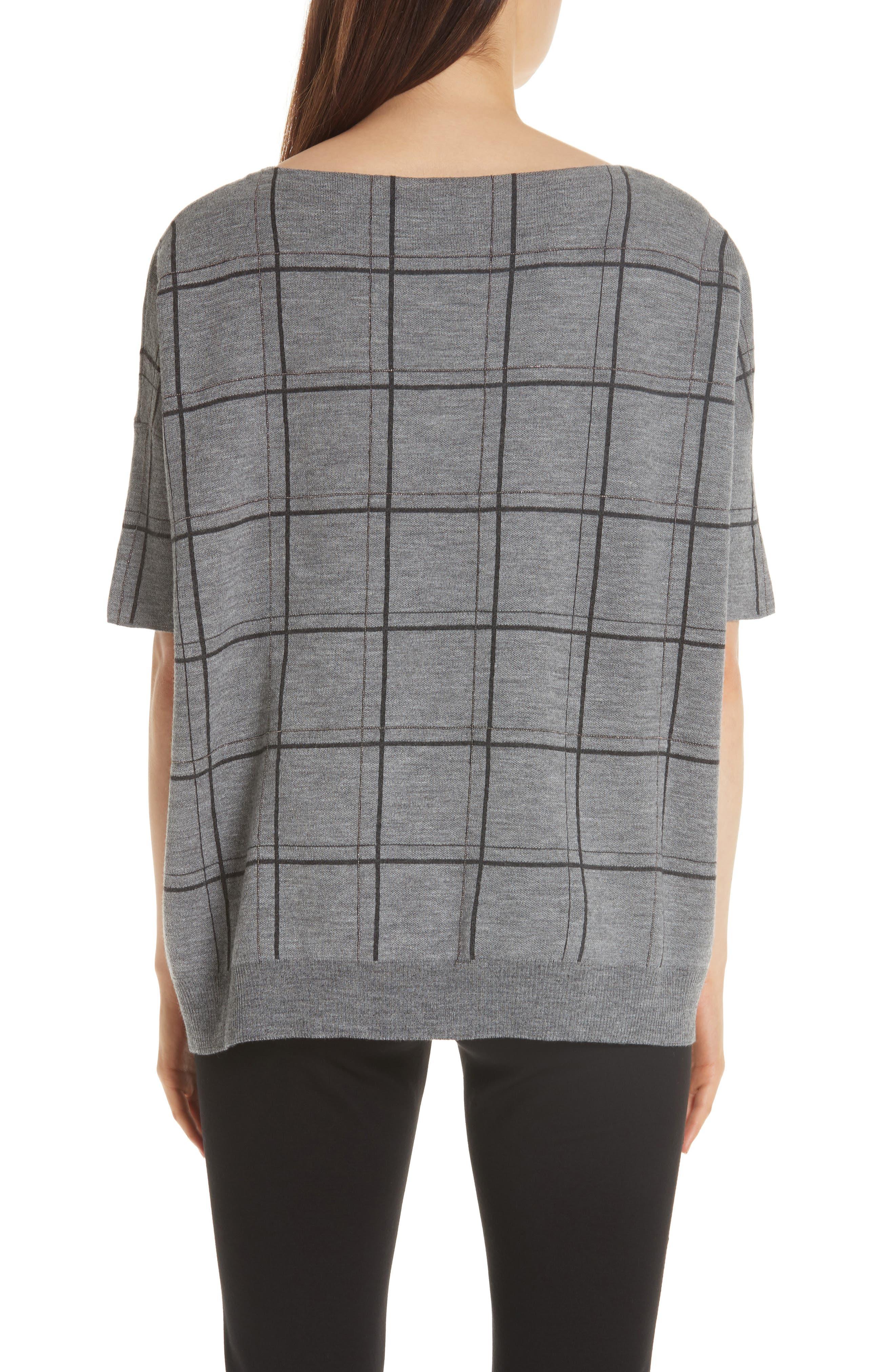 LAFAYETTE 148 NEW YORK,                             Chain Embellished Oversize Jacquard Sweater,                             Alternate thumbnail 2, color,                             056