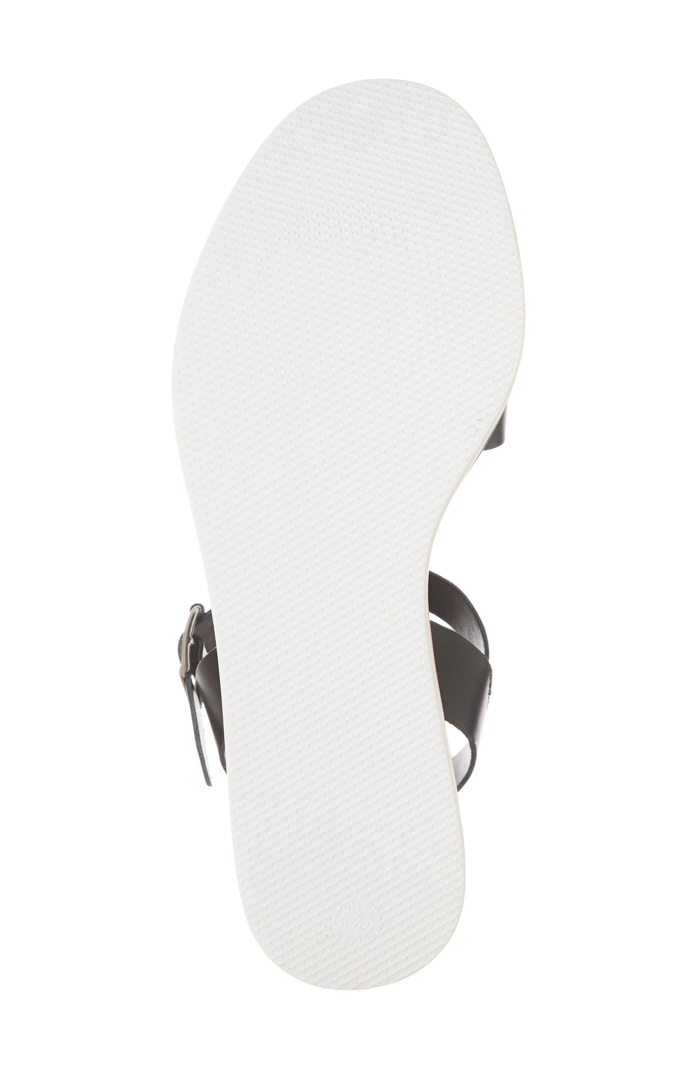 Holly Stripe Platform Sandal,                             Alternate thumbnail 6, color,                             BLACK LEATHER