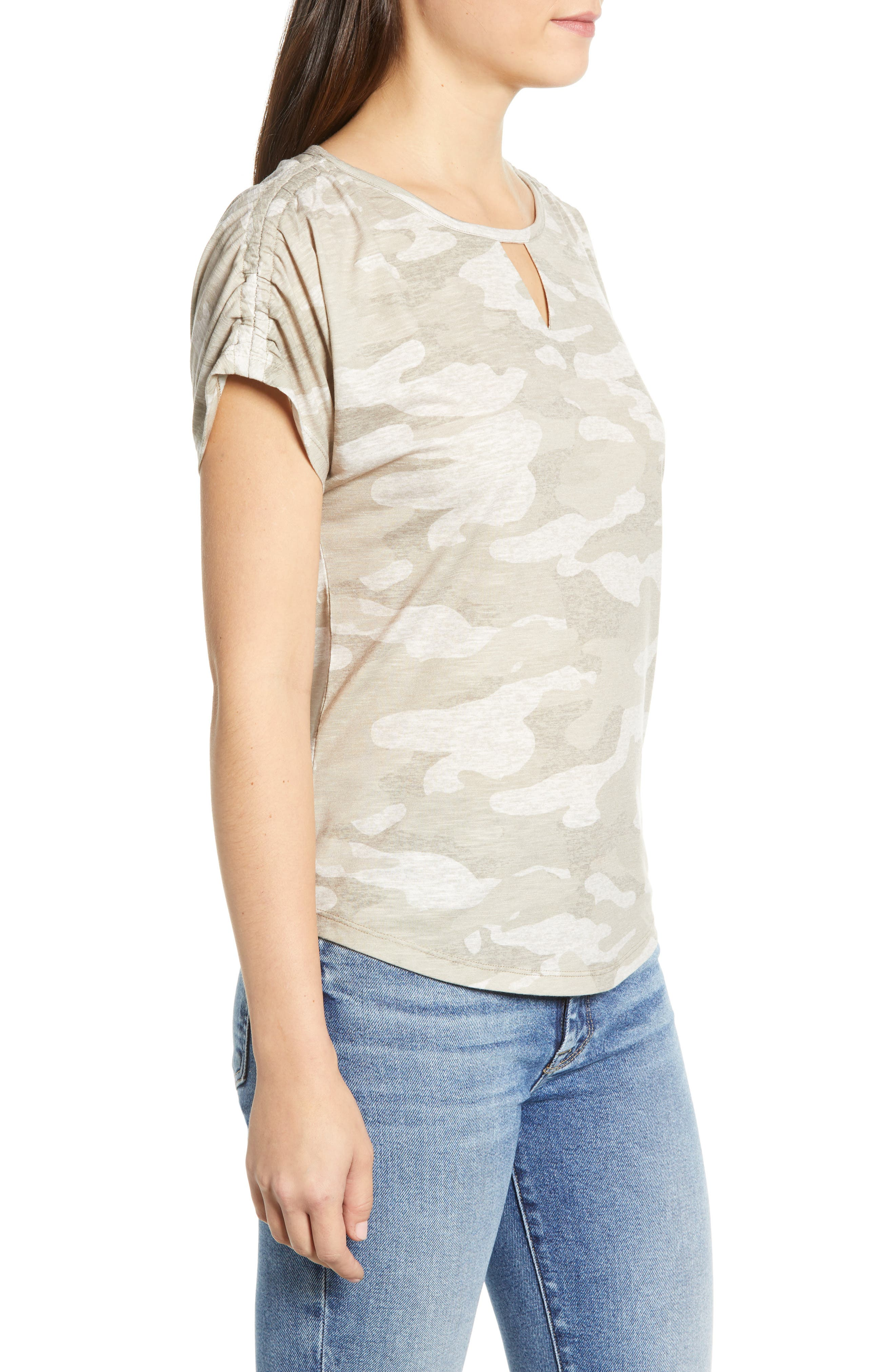 Scoop Neck Tee,                             Alternate thumbnail 3, color,                             TAN