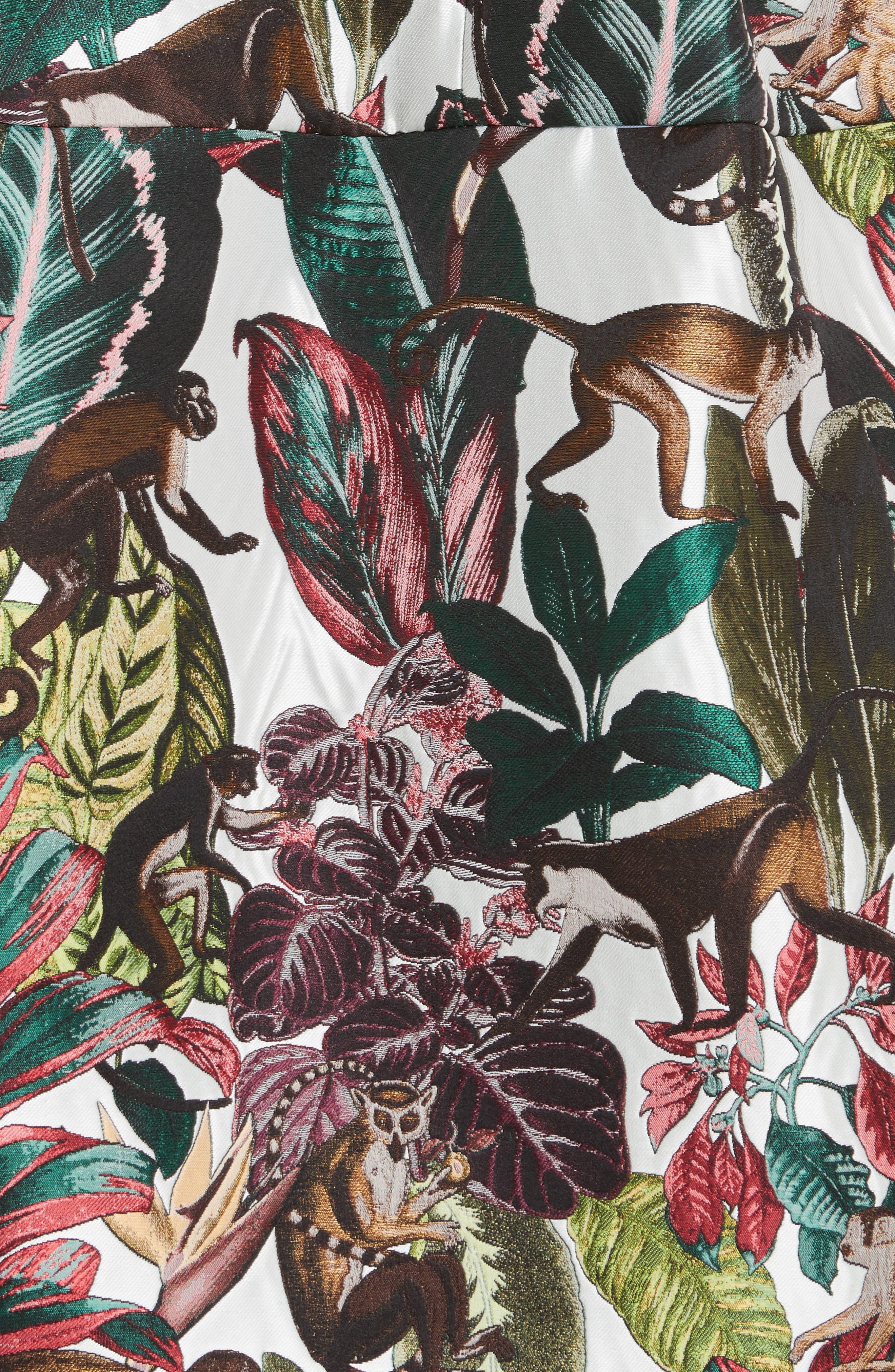 Jungle Jacquard Dress,                             Alternate thumbnail 5, color,                             300
