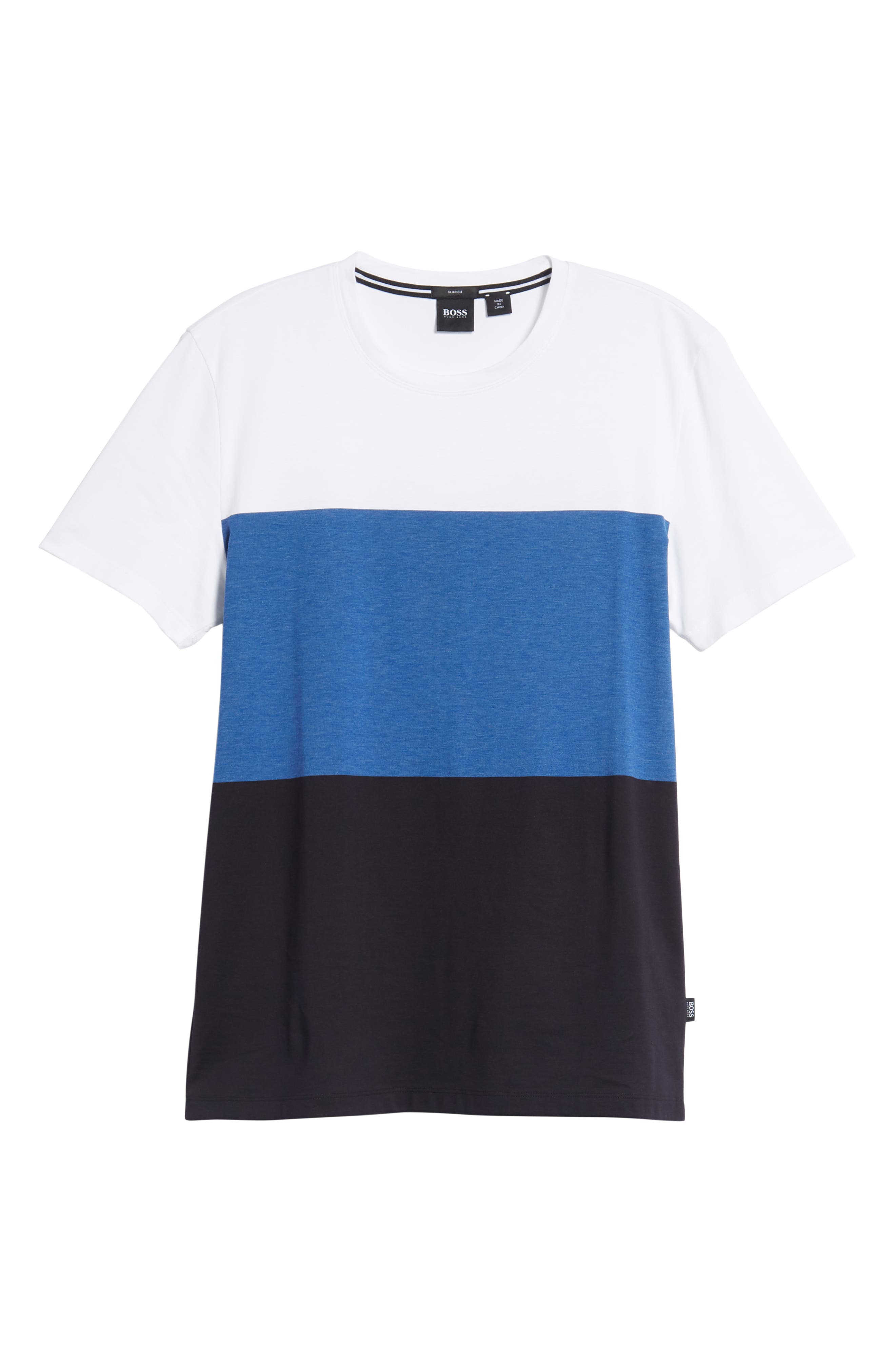 Tessler Colorblock Slim Fit T-Shirt,                             Alternate thumbnail 6, color,                             474