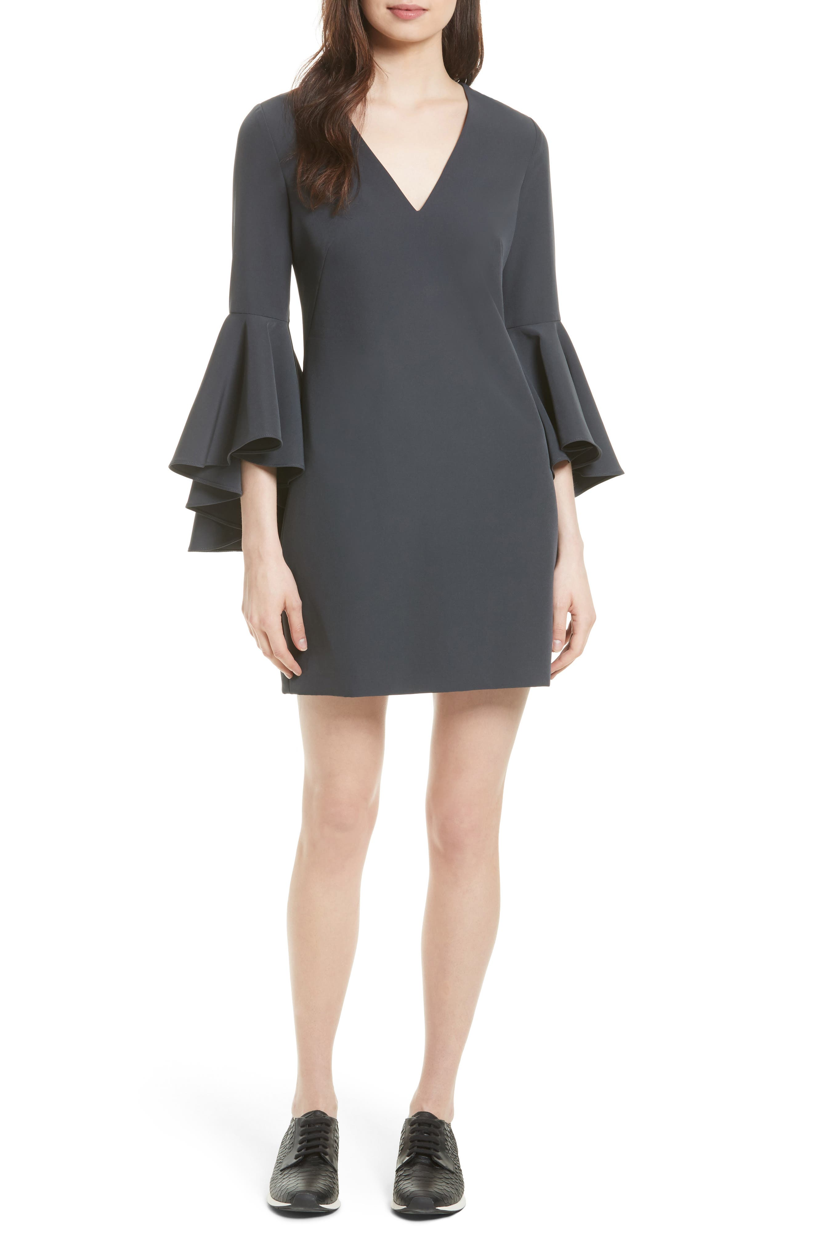 Nicole Bell Sleeve Dress,                             Alternate thumbnail 61, color,