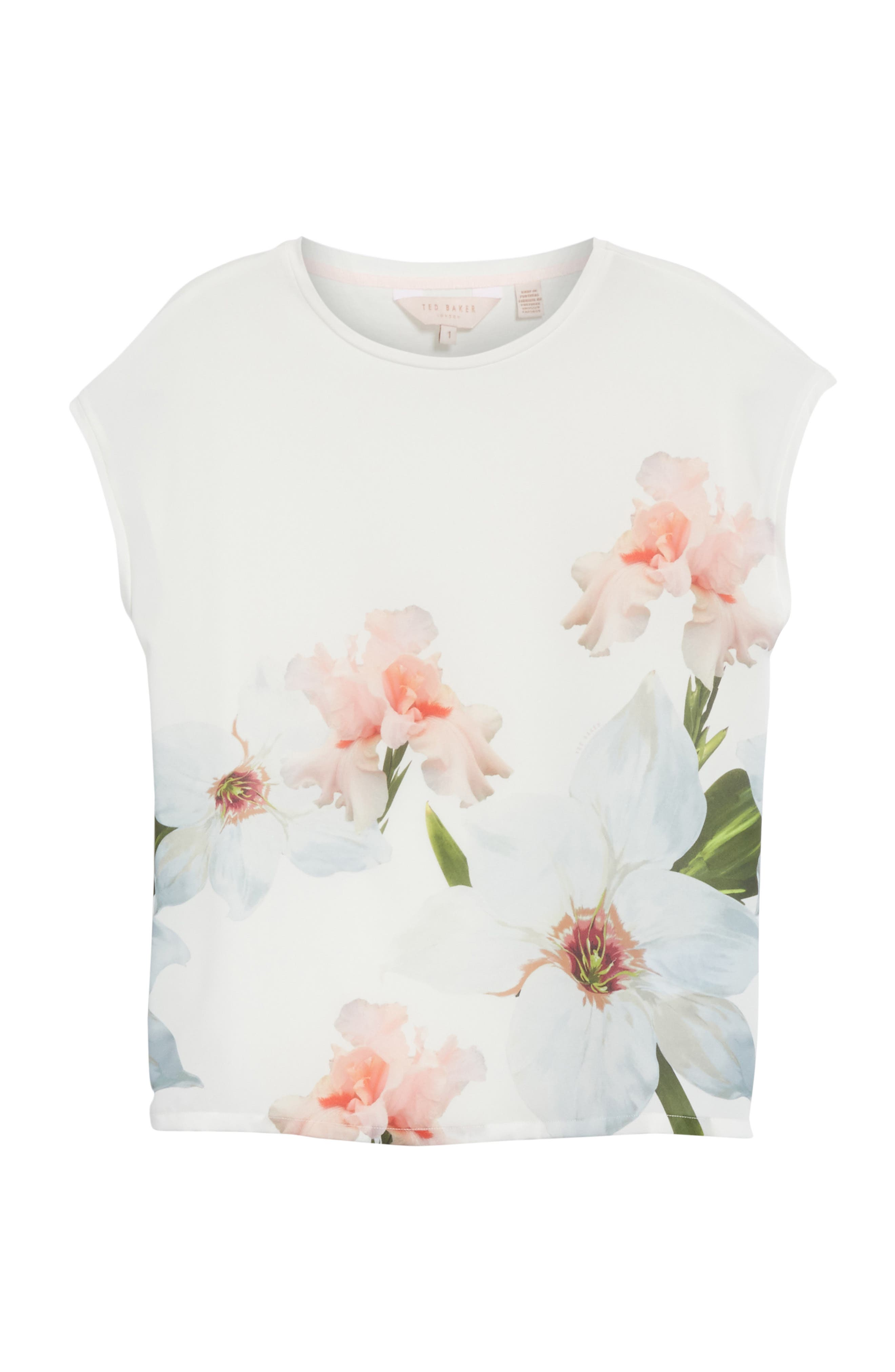 Chatsworth Bloom Tee,                             Alternate thumbnail 6, color,                             110