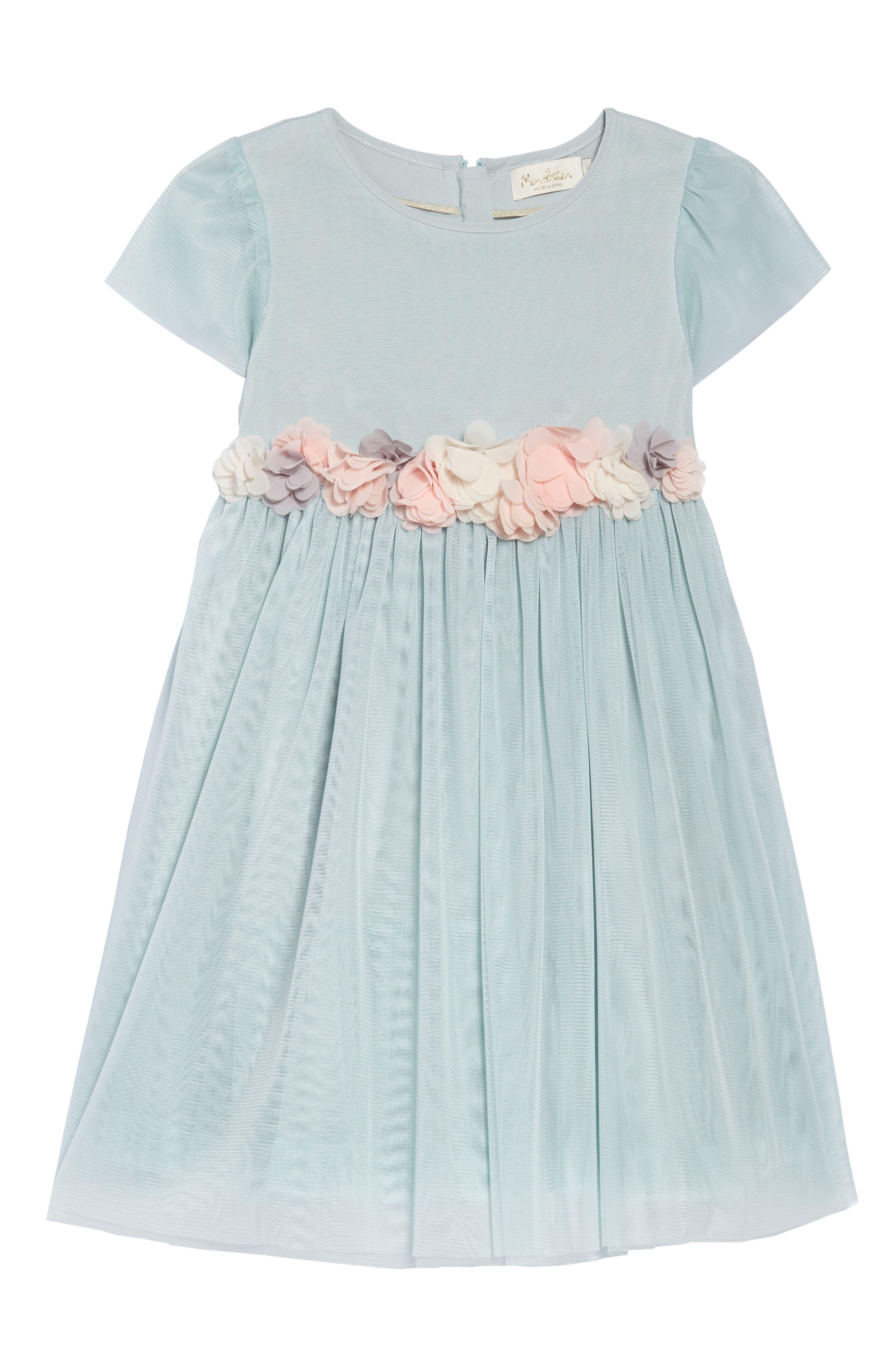 Cap Sleeve Tulle Dress,                             Main thumbnail 1, color,                             454