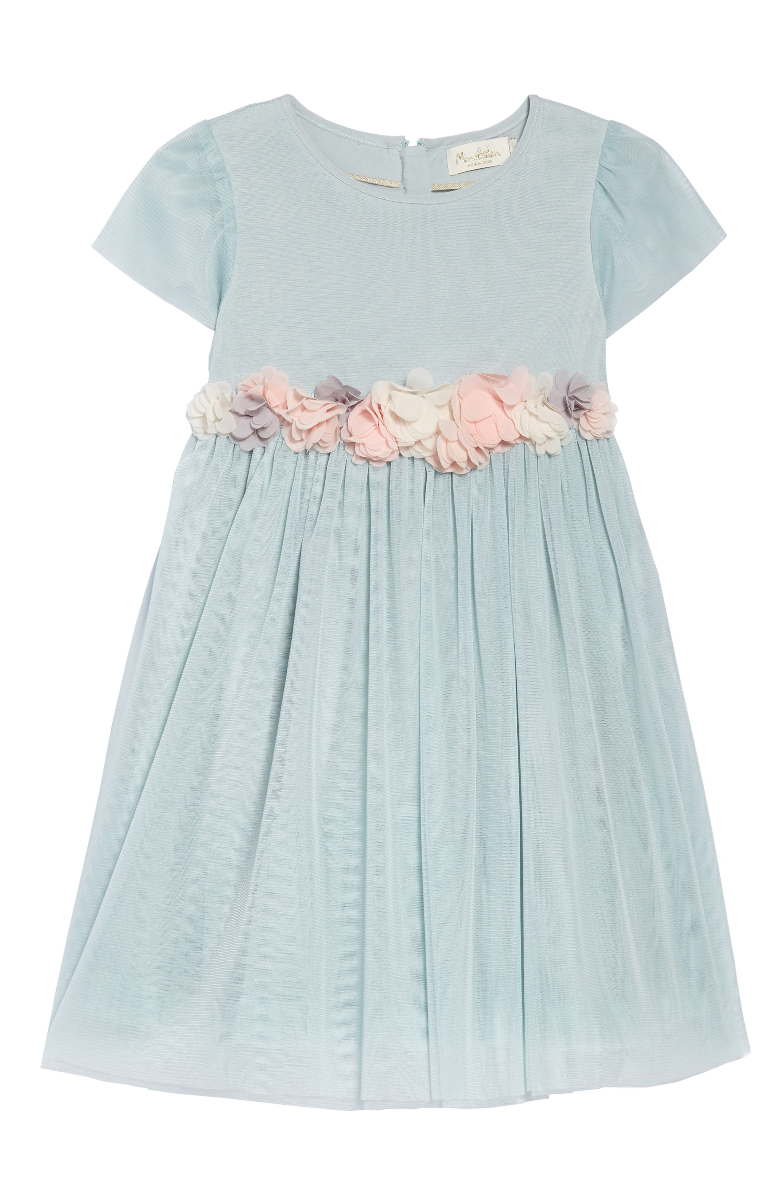 Cap Sleeve Tulle Dress,                         Main,                         color, 454