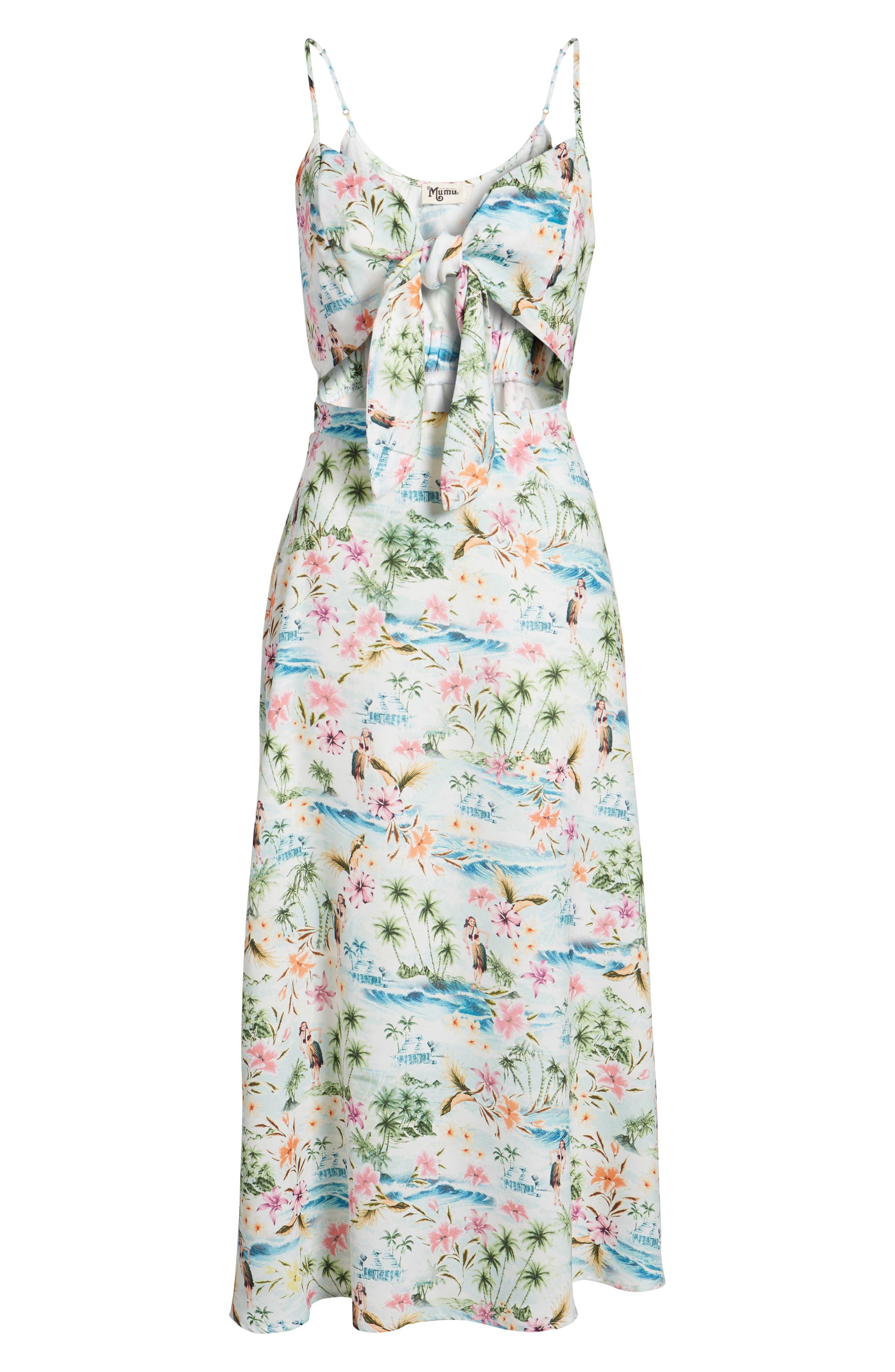Moby Tie Maxi Dress,                             Alternate thumbnail 7, color,                             100