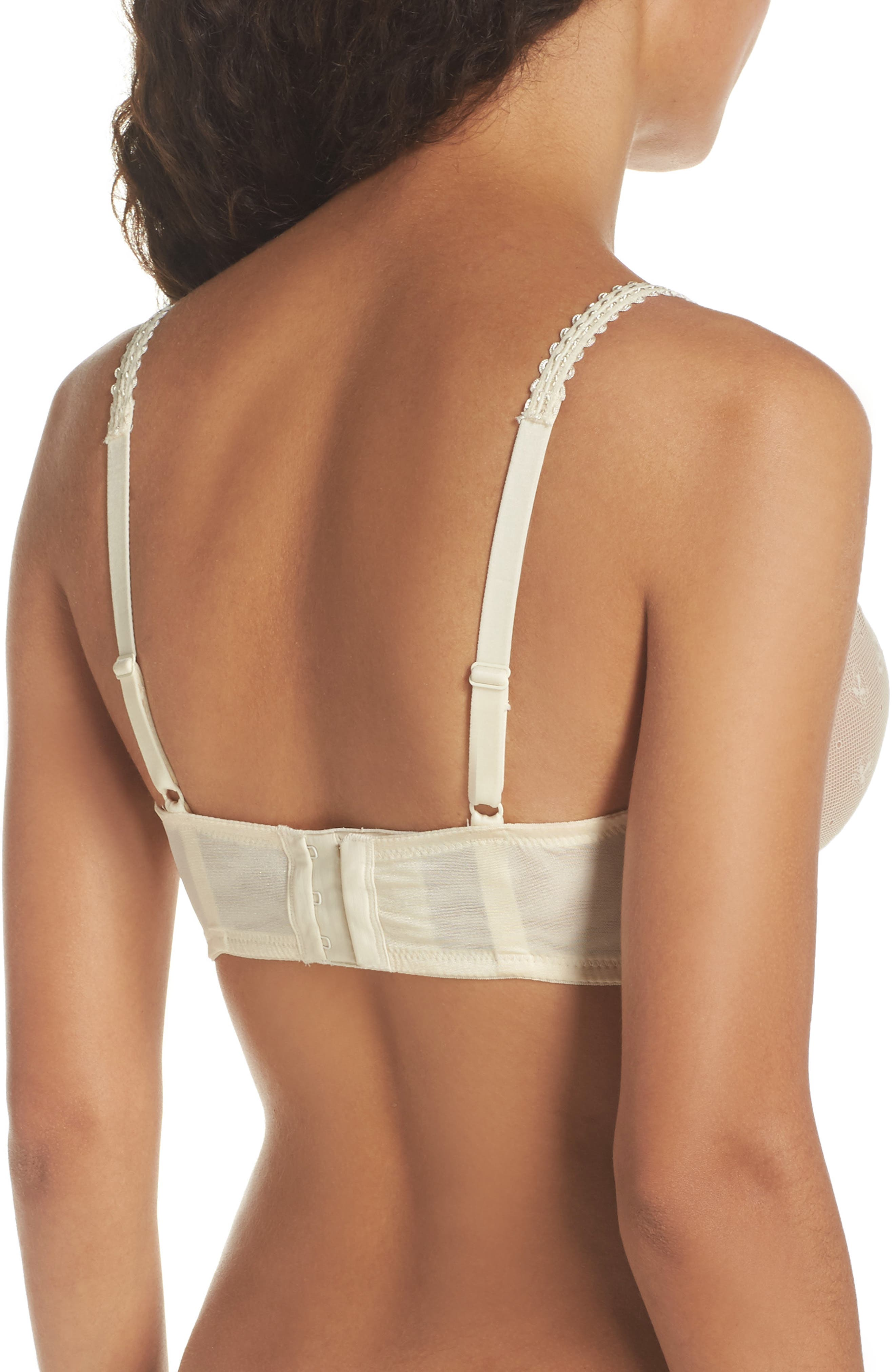 Sexy Mama Underwire Nursing Bra,                             Alternate thumbnail 3, color,                             IVORY/NATURAL