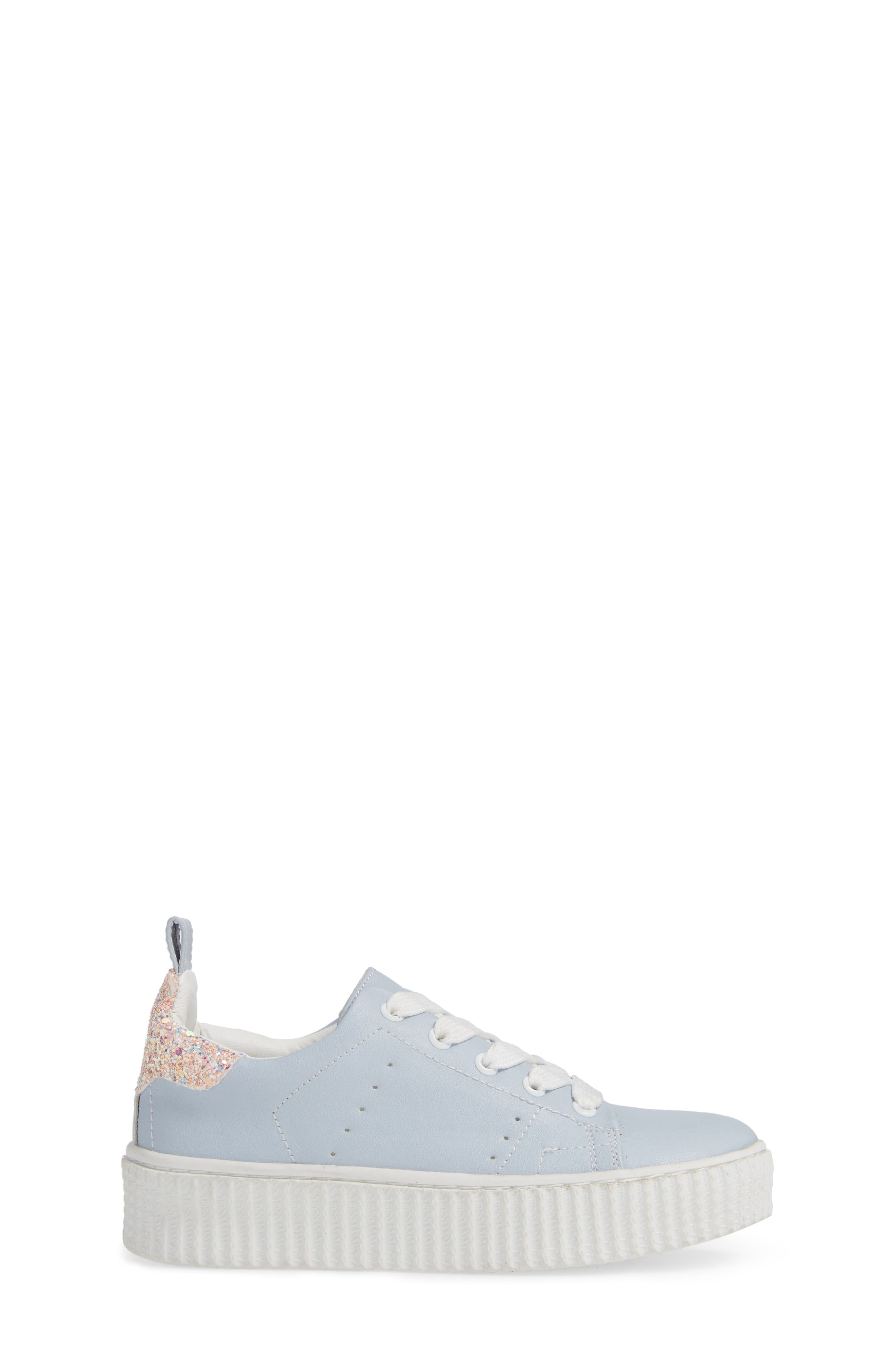 Wren Glitter Heel Sneaker,                             Alternate thumbnail 3, color,                             LIGHT BLUE