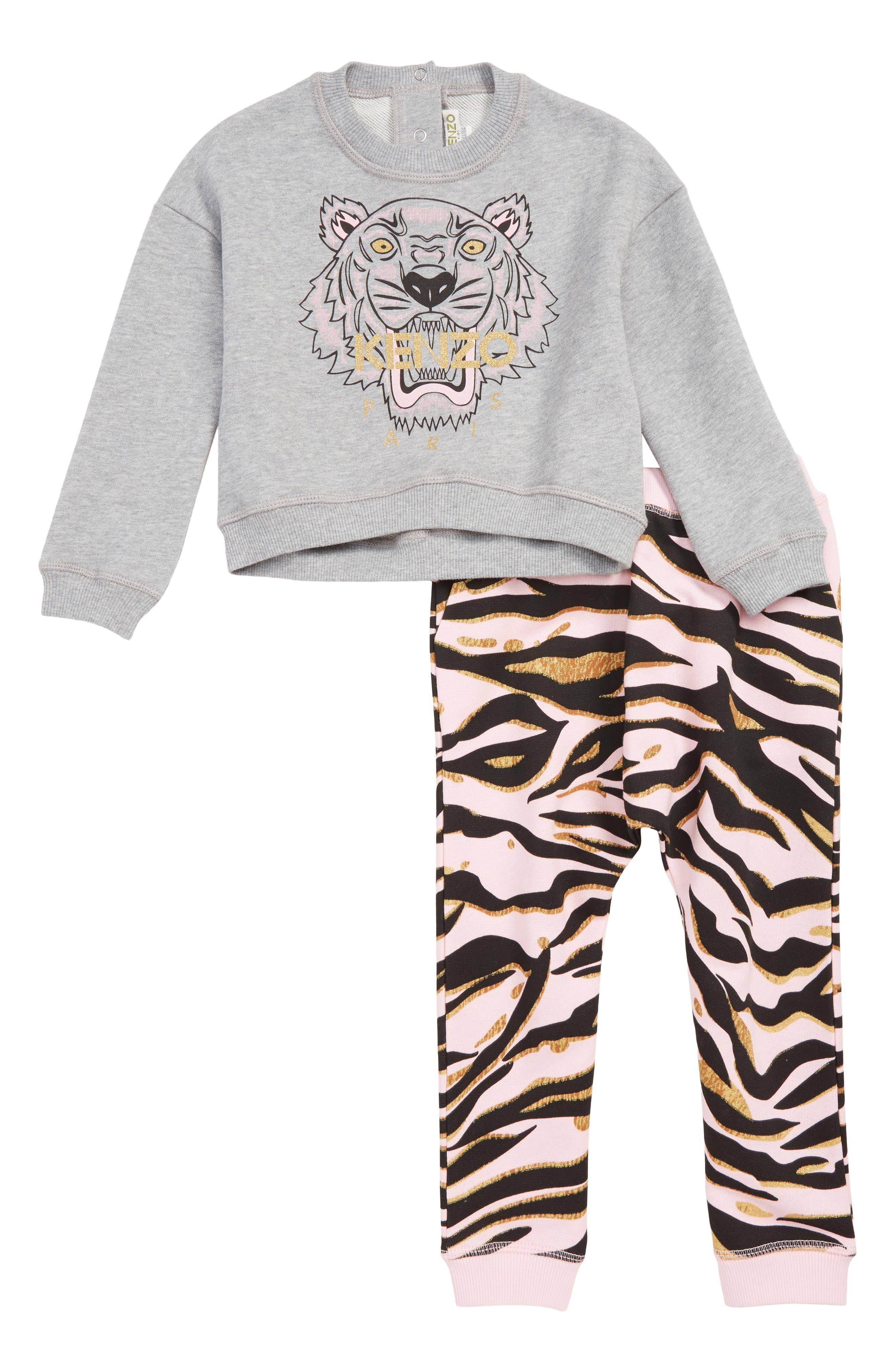 Girls Kenzo Sweatshirt  Sweatpants Set