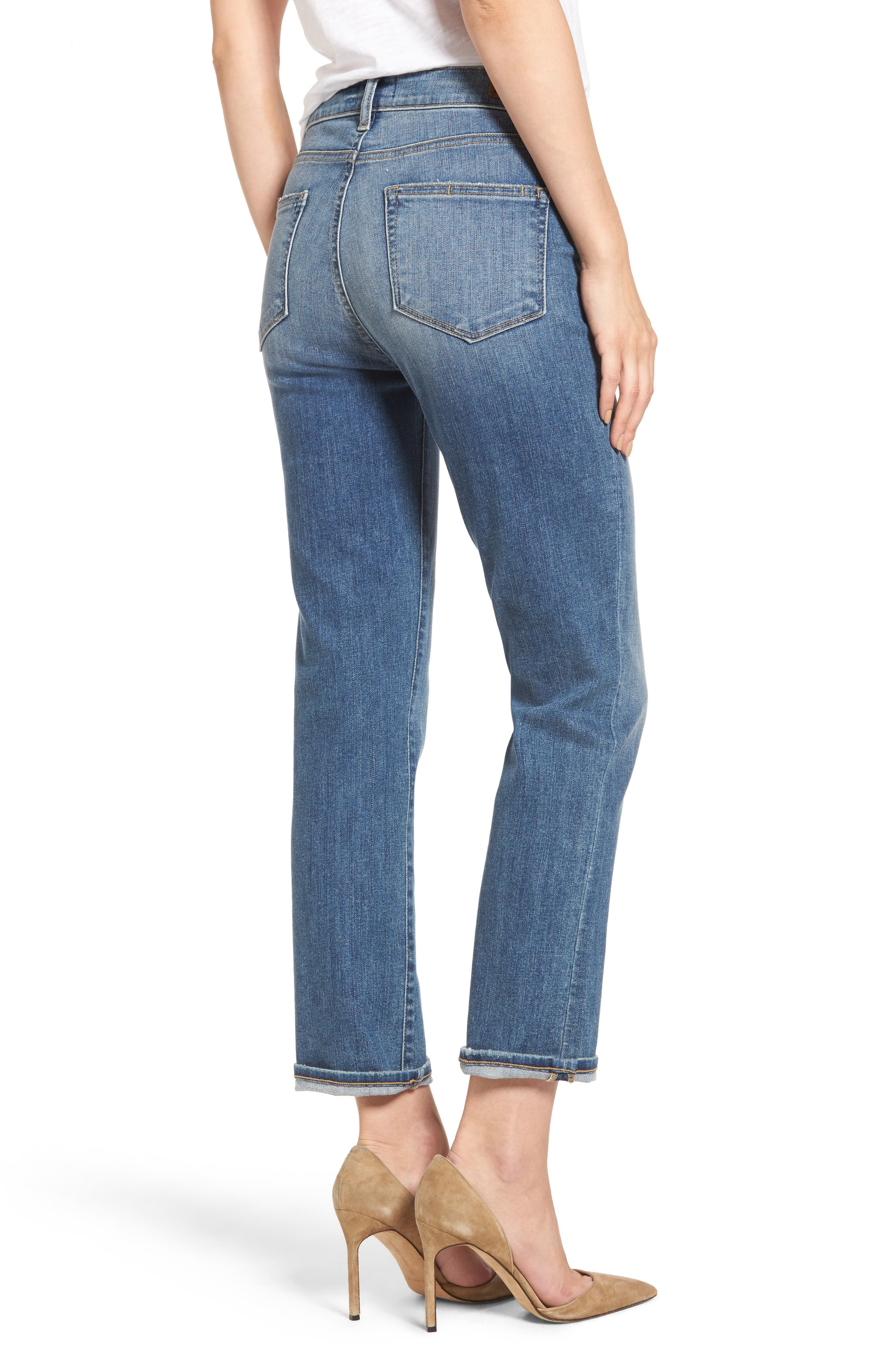 Transcend Vintage - Jacqueline High Waist Ankle Straight Leg Jeans,                             Alternate thumbnail 2, color,                             400