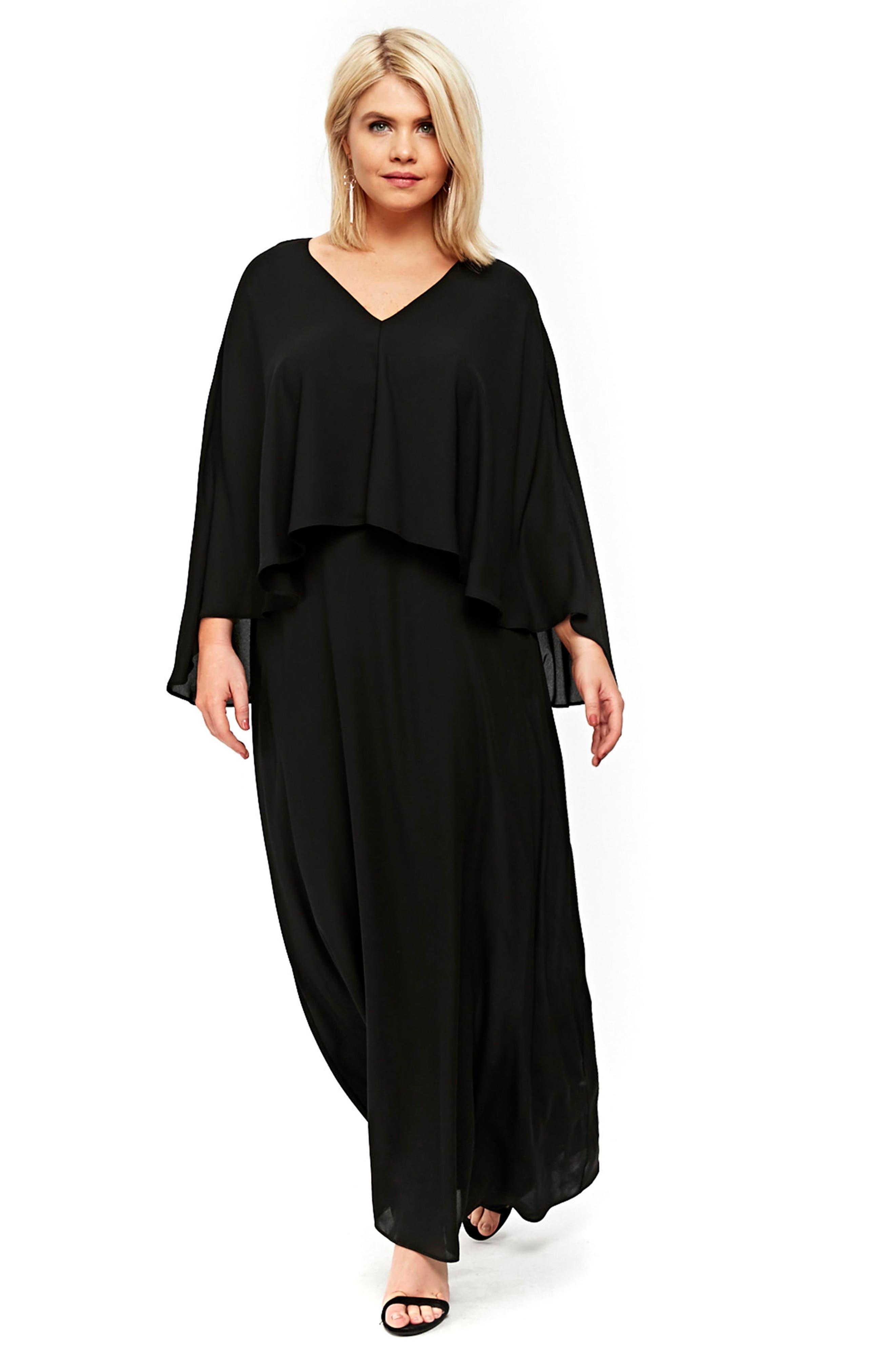 Overlay Maxi Dress,                             Alternate thumbnail 5, color,                             012