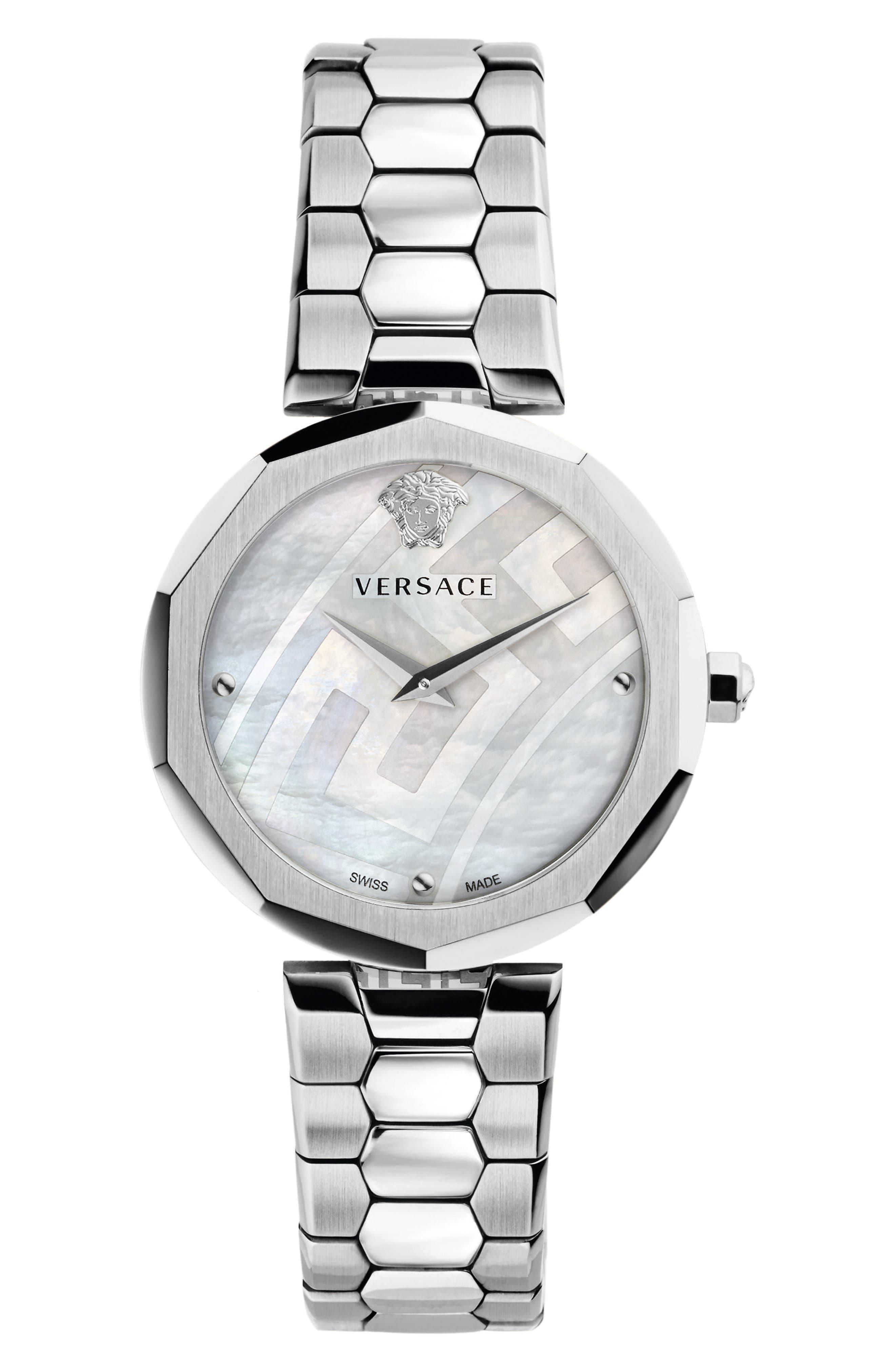 Idyia Bracelet Watch, 36mm,                             Main thumbnail 1, color,                             SILVER/ MOP/ SILVER