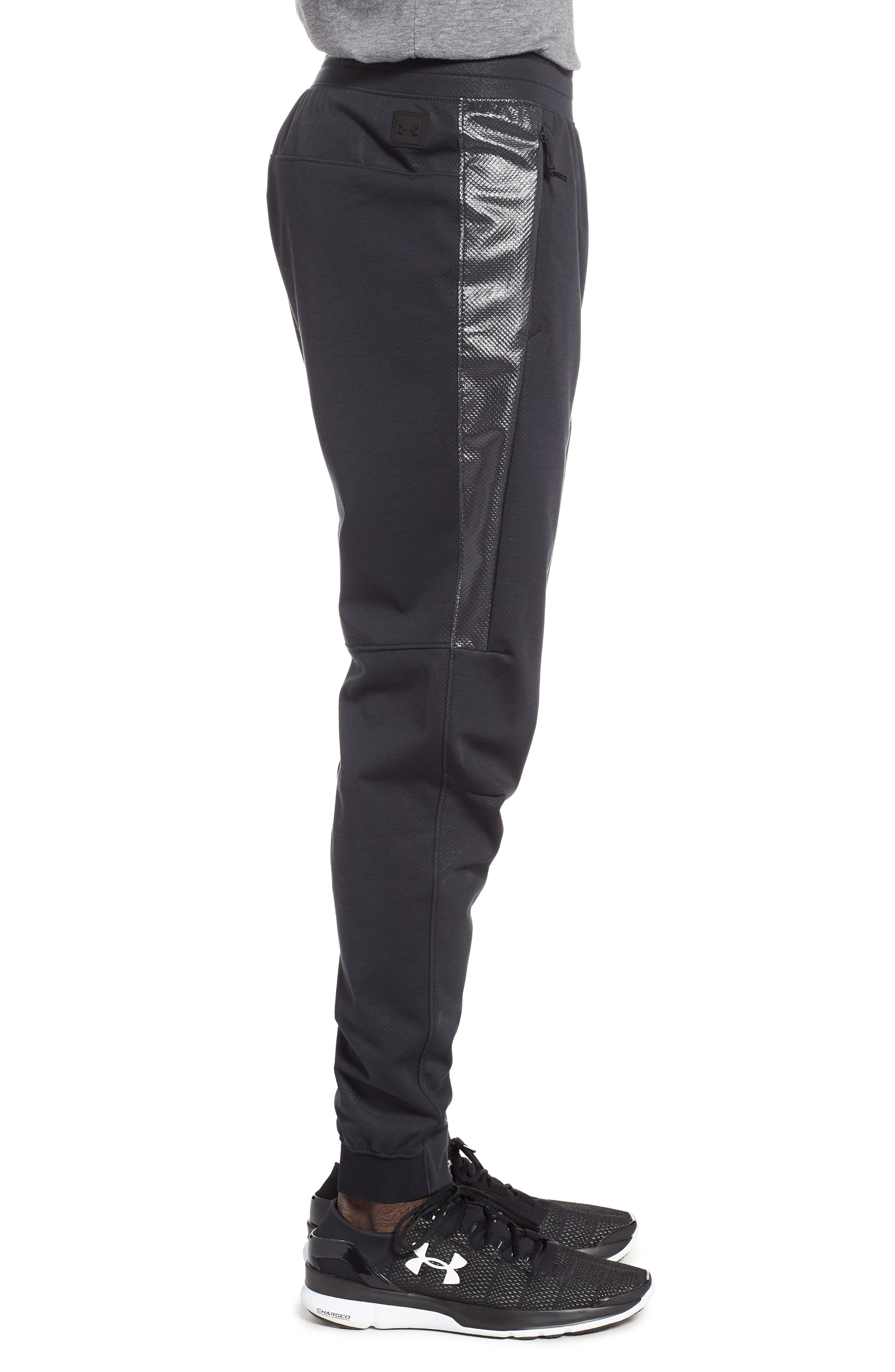 Unstoppable Swacket Training Pants,                             Alternate thumbnail 3, color,                             BLACK FULL HEATHER/ BLACK