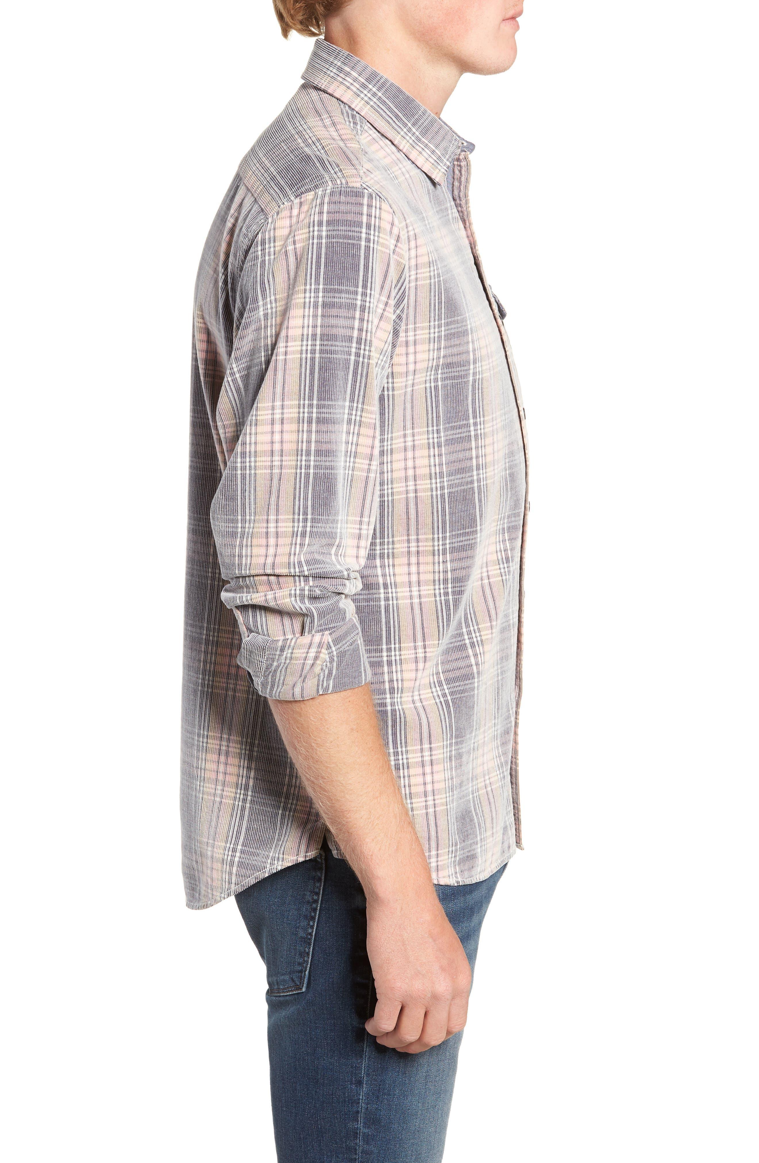 Regular Fit Plaid Corduroy Shirt,                             Alternate thumbnail 4, color,                             602