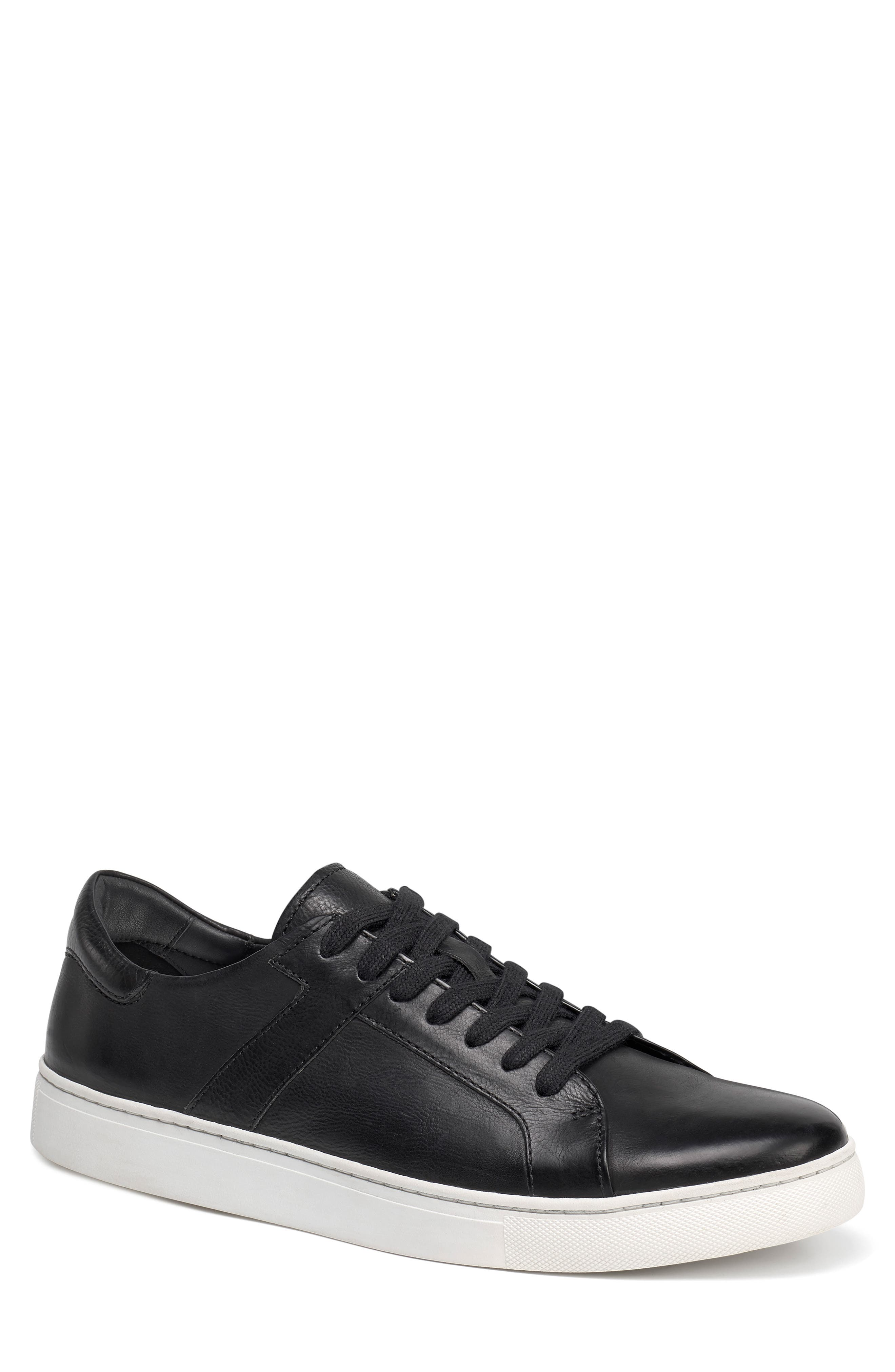 Aaron Sneaker,                         Main,                         color, BLACK LEATHER