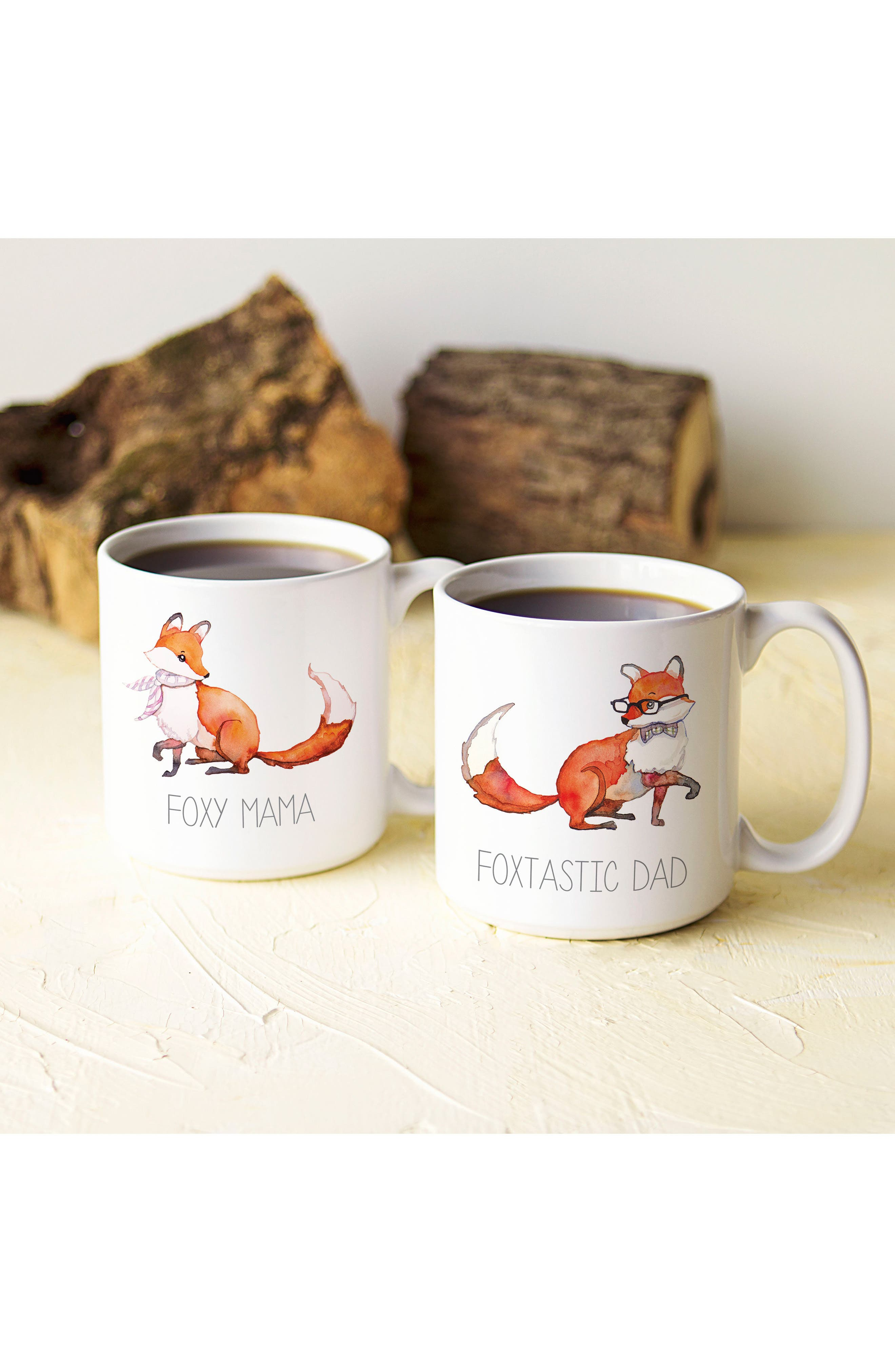 Mom & Dad Fox Set of 2 Coffee Mugs,                             Alternate thumbnail 7, color,                             100