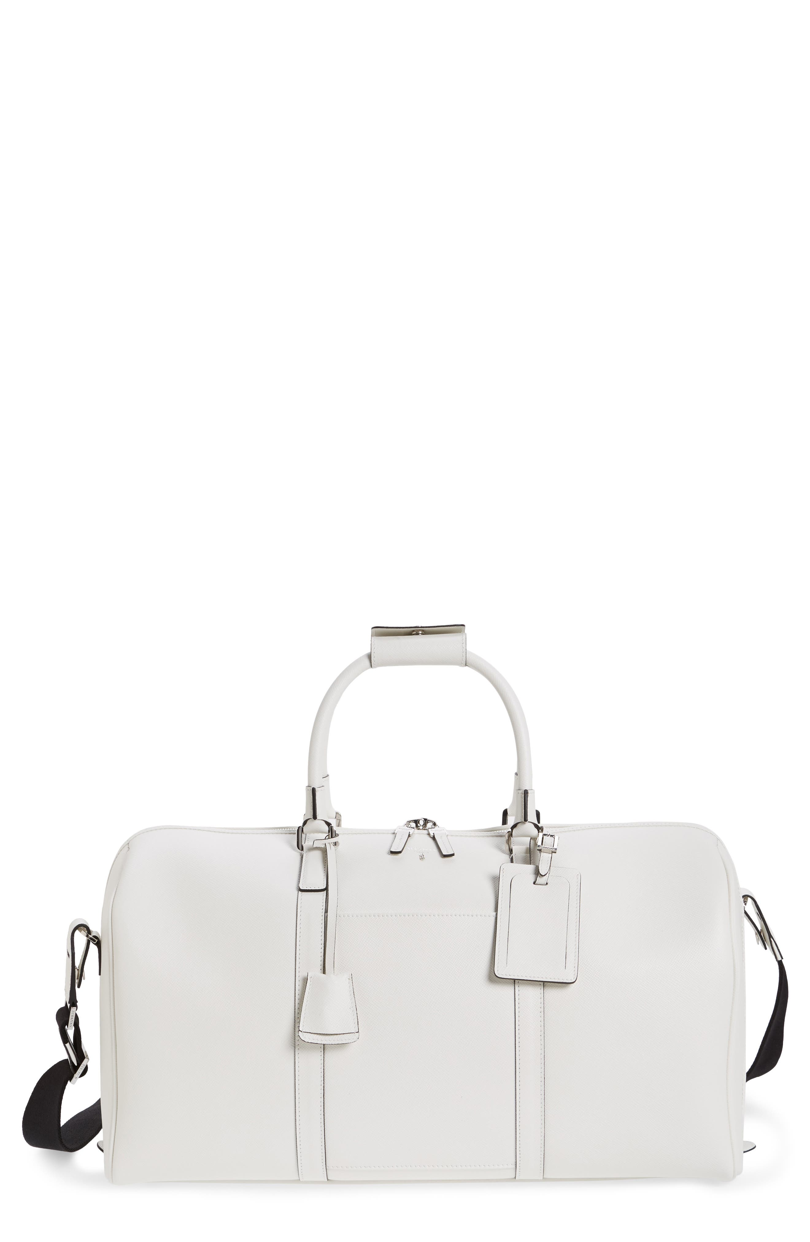 Small Evolution Leather Duffel Bag,                             Main thumbnail 2, color,