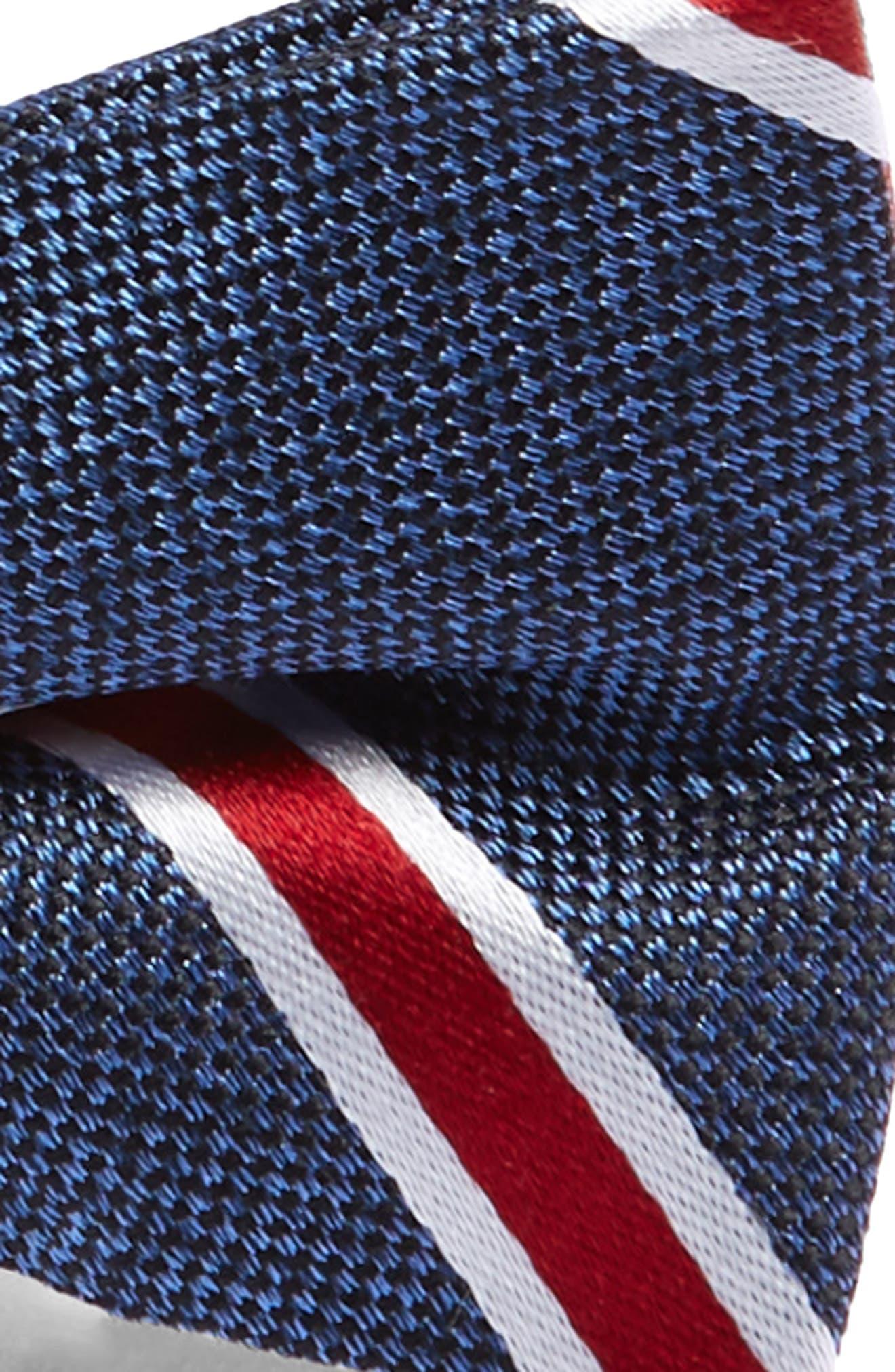 Stripe Cotton Bow Tie,                             Alternate thumbnail 2, color,                             RED
