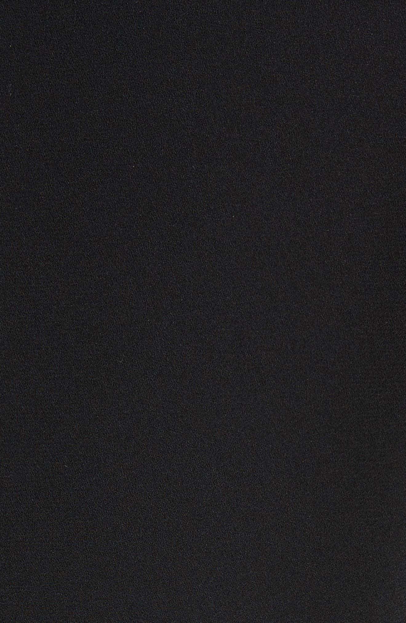 Preacher Flare Sleeve Minidress,                             Alternate thumbnail 5, color,                             001