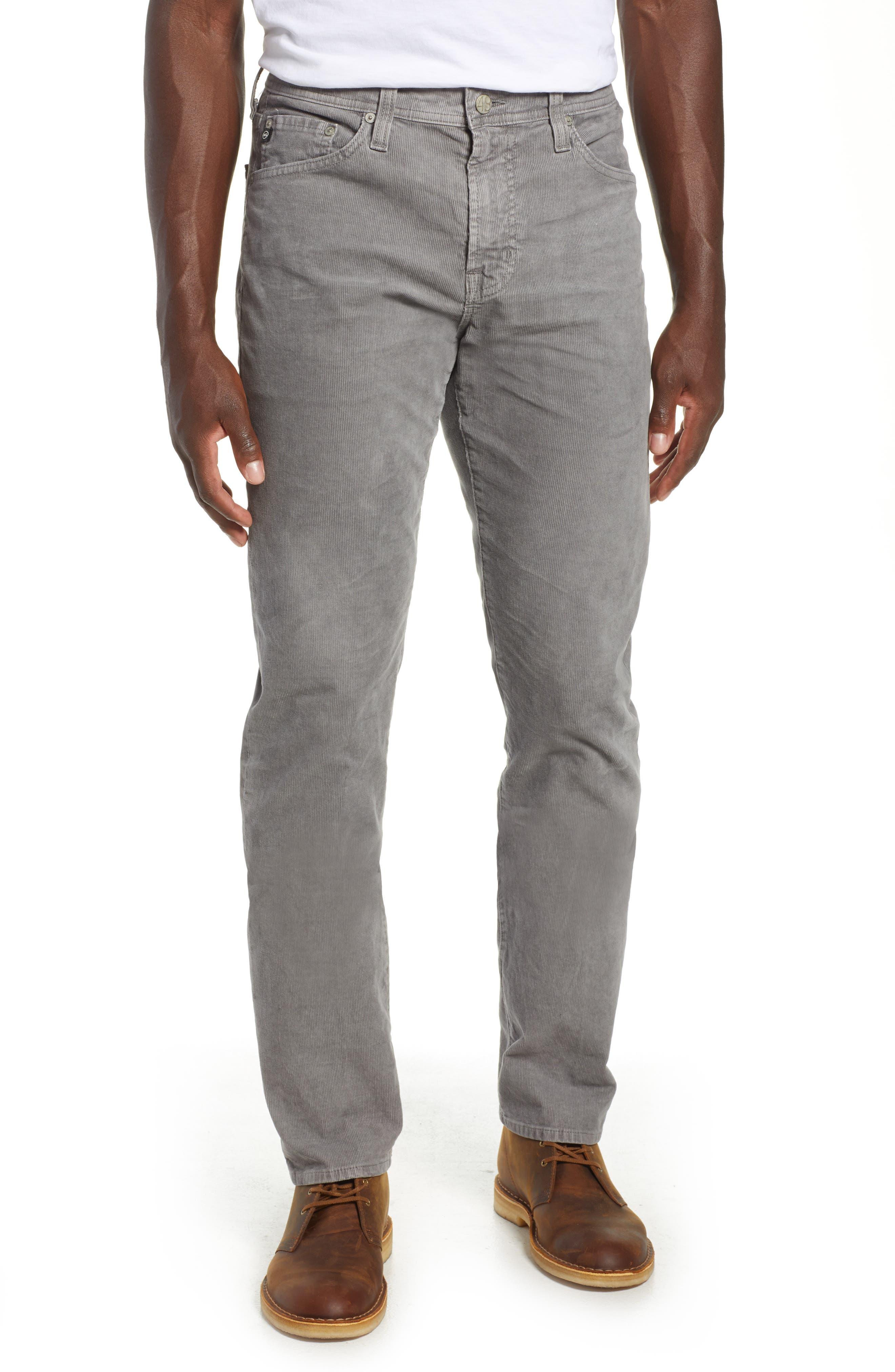 Everett Straight Leg Corduroy Pants,                         Main,                         color, SULFUR AUTUMN FOG