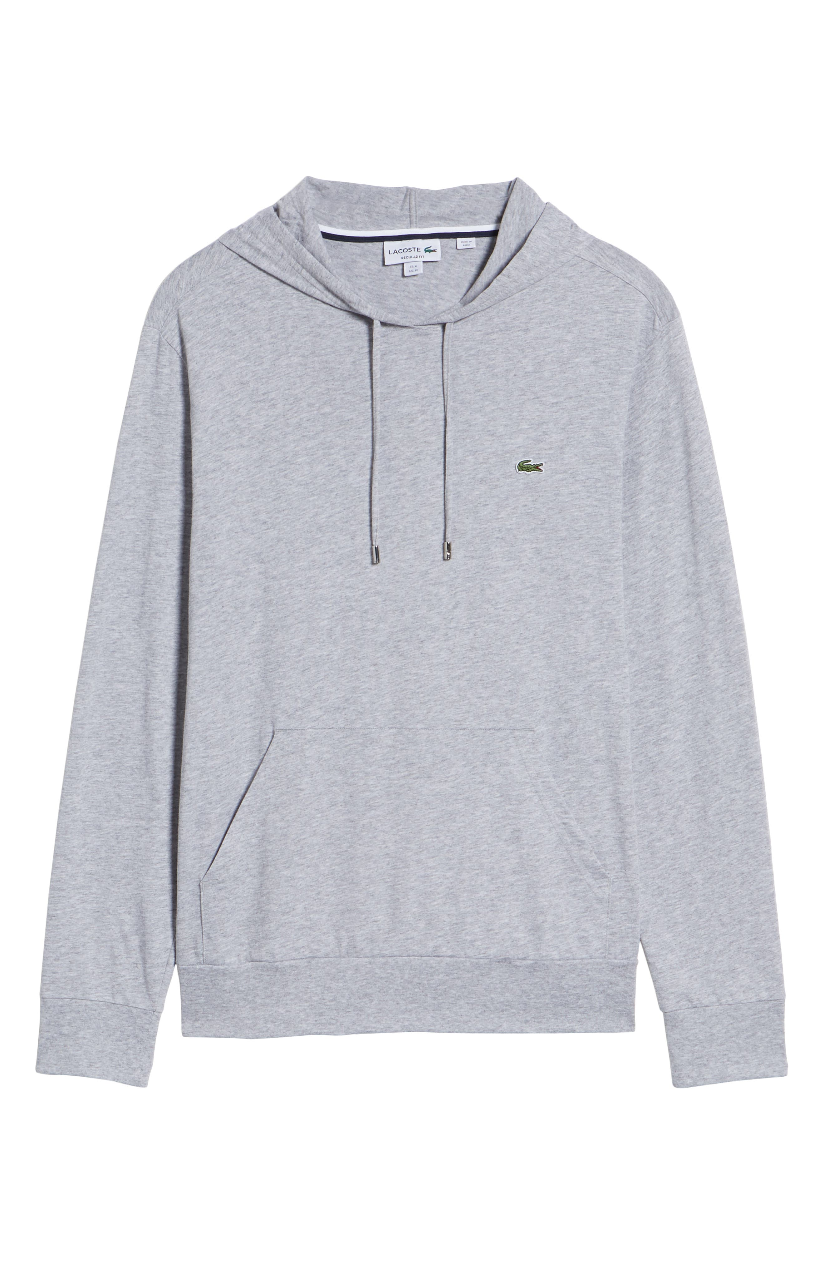 Pullover Hoodie,                             Alternate thumbnail 6, color,                             SILVER CHINE