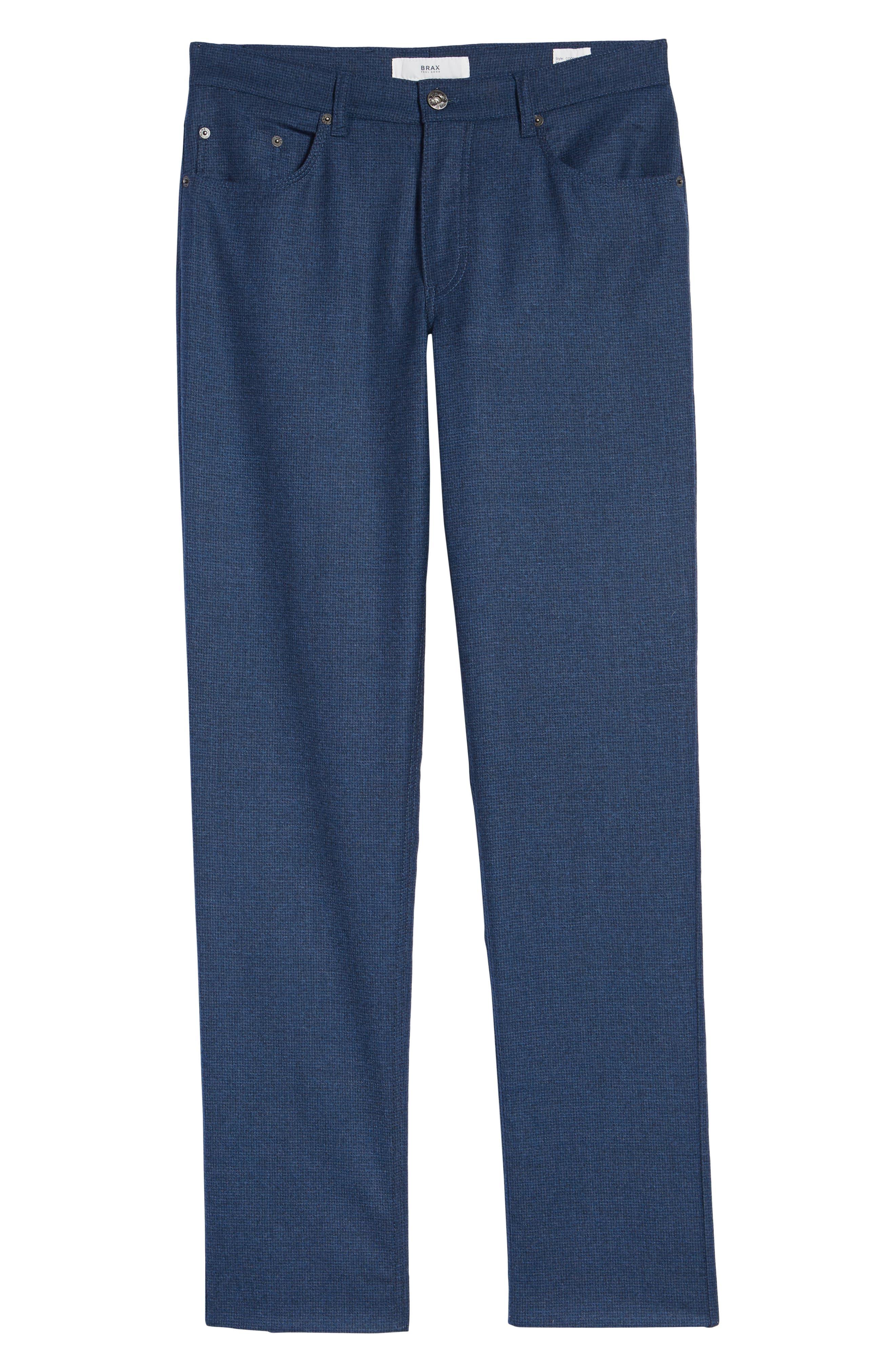 Cadiz Five-Pocket Stretch Wool Trousers,                             Alternate thumbnail 6, color,                             MIDNIGHT