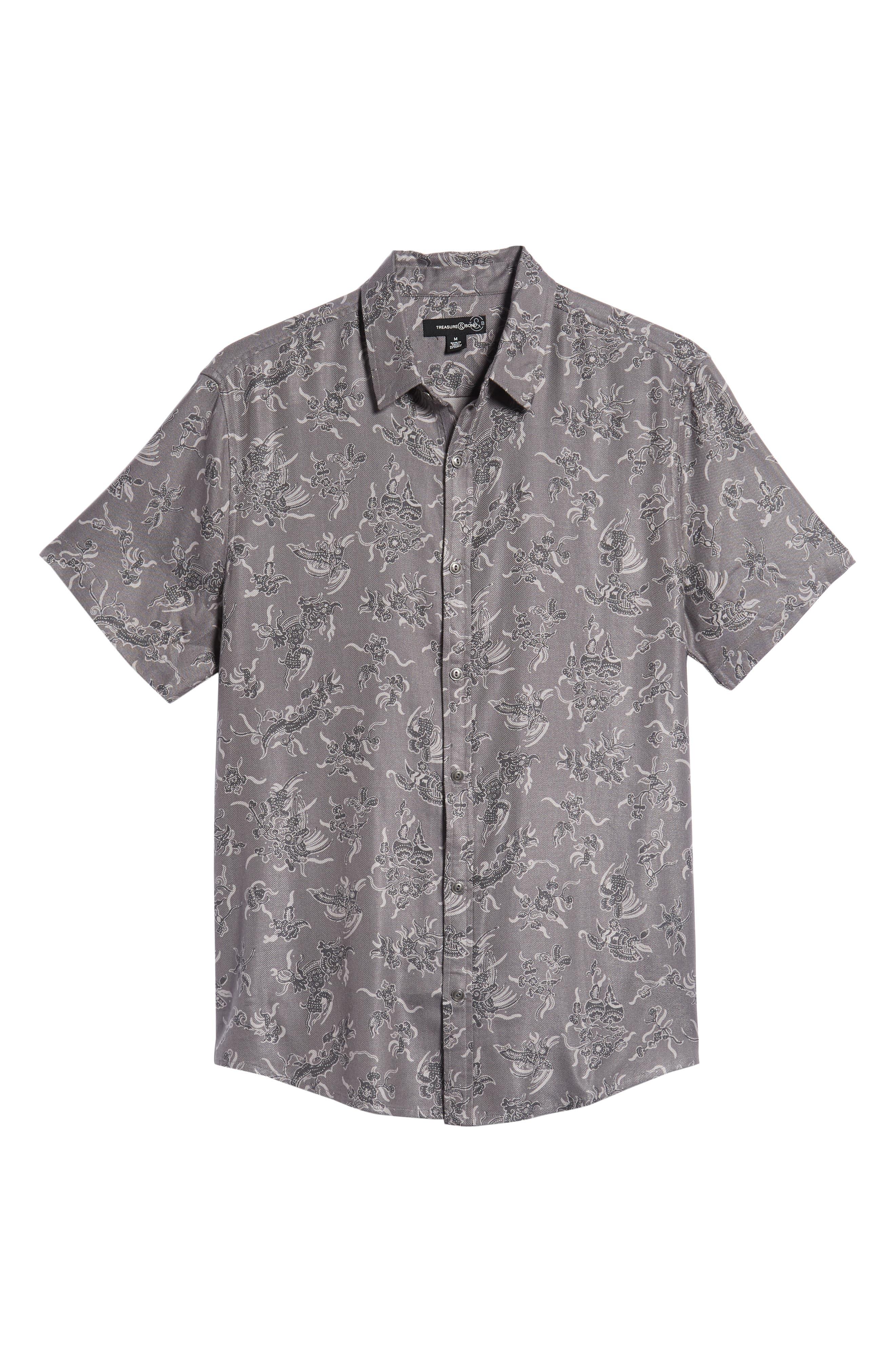 Trim Fit Print Sport Shirt,                             Alternate thumbnail 6, color,                             030