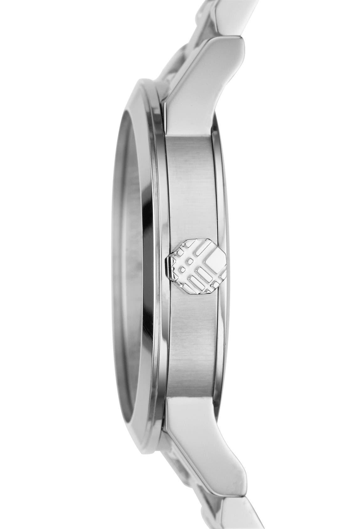 Medium Check Stamped Bracelet Watch, 34mm,                             Alternate thumbnail 5, color,                             040