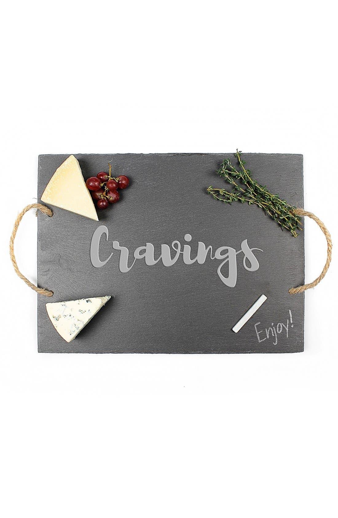 'Cravings' Slate Serving Board,                             Main thumbnail 1, color,                             001