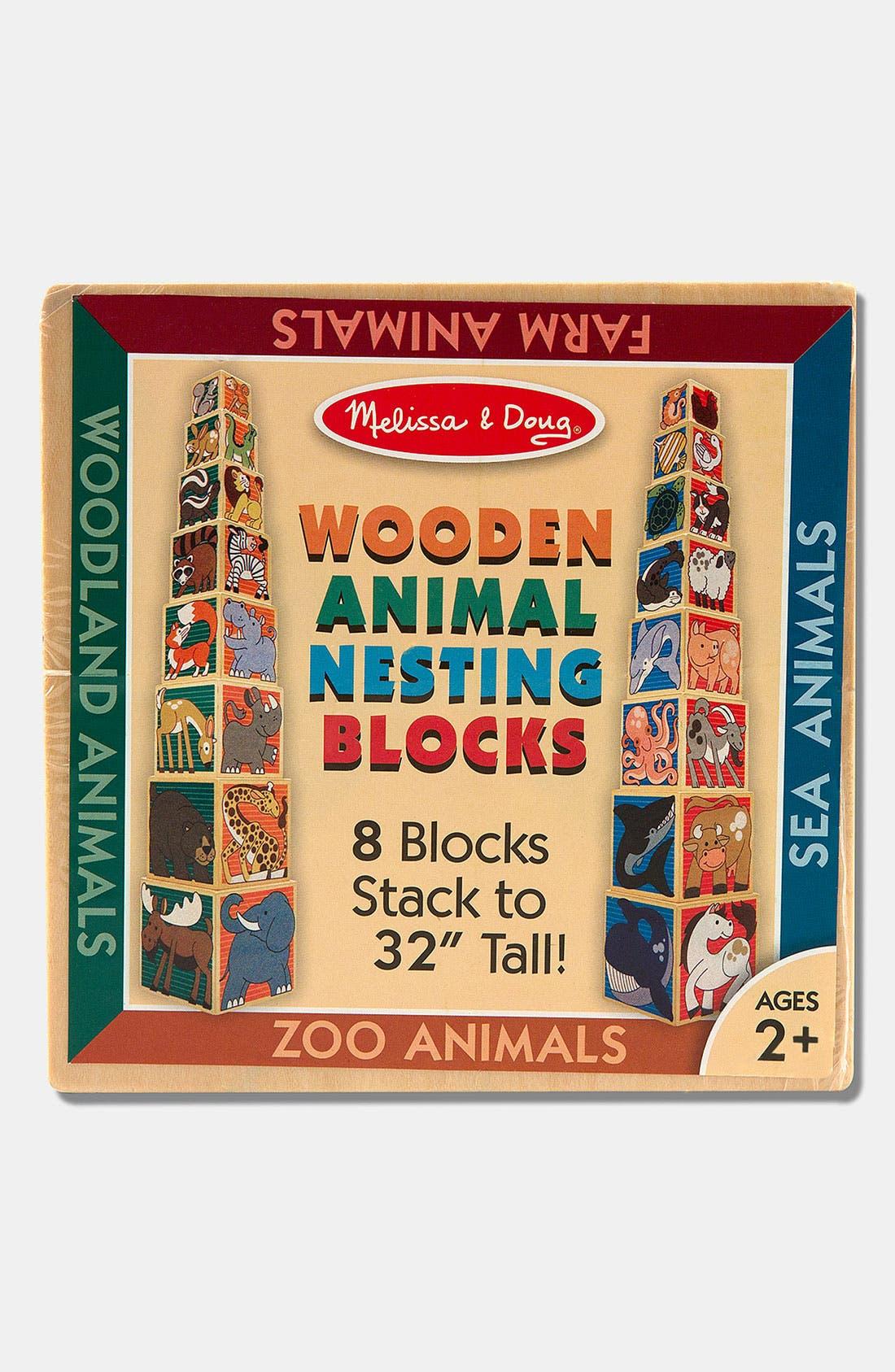 Animal Nesting Blocks,                             Alternate thumbnail 2, color,                             RED