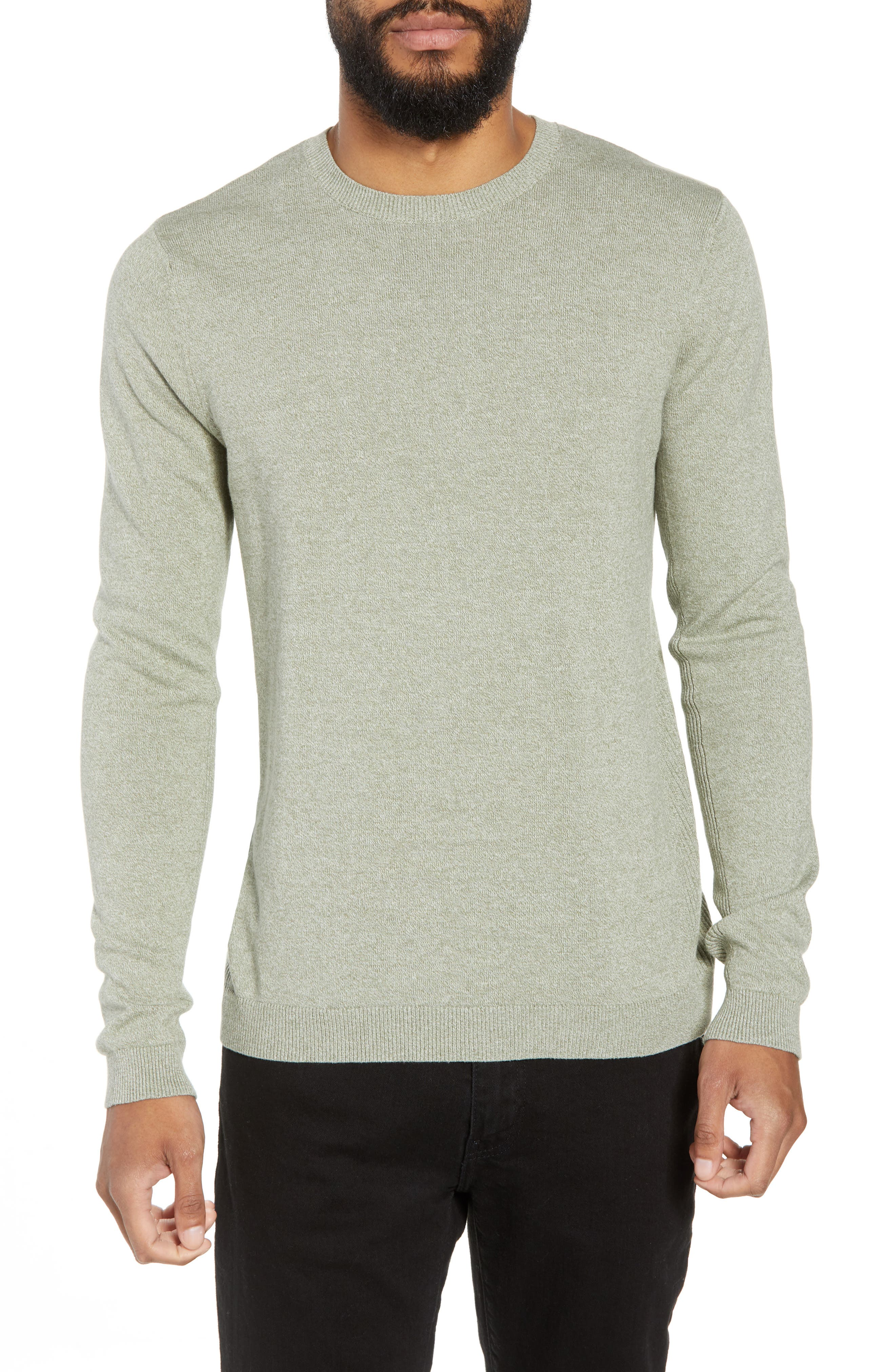 Twist Side Rib Crewneck Sweater,                             Main thumbnail 1, color,