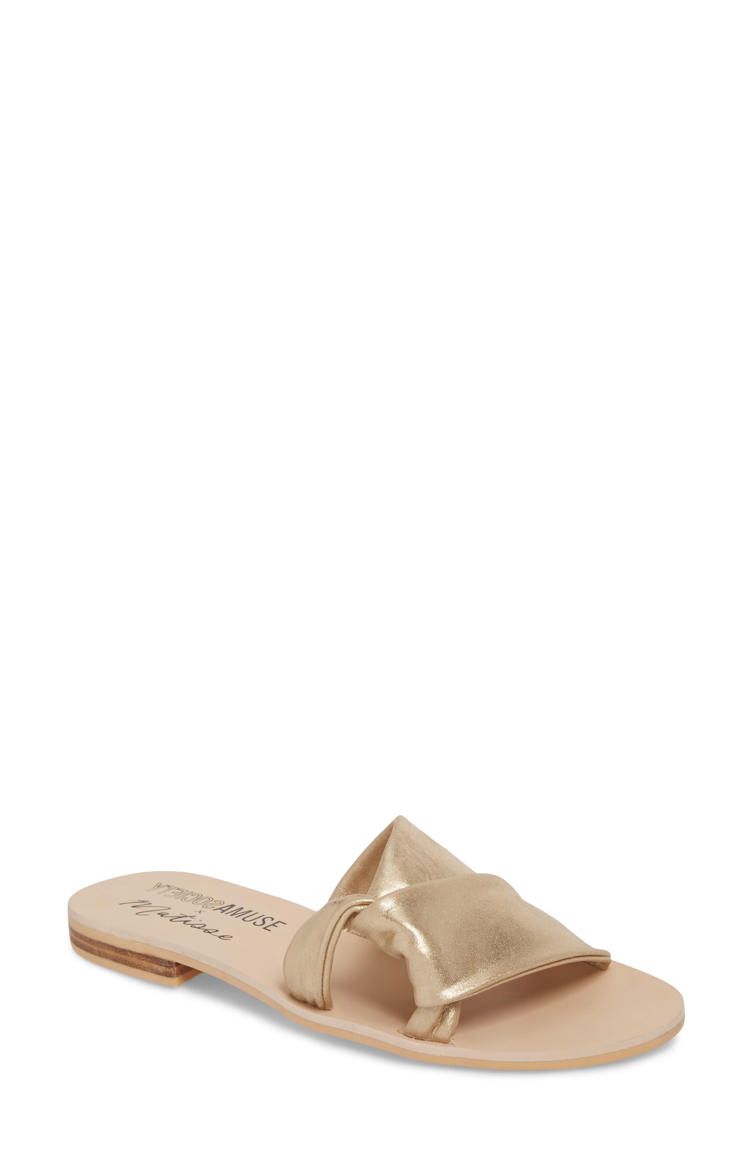Amuse Society X Matisse Capri Slide Sandal, Metallic
