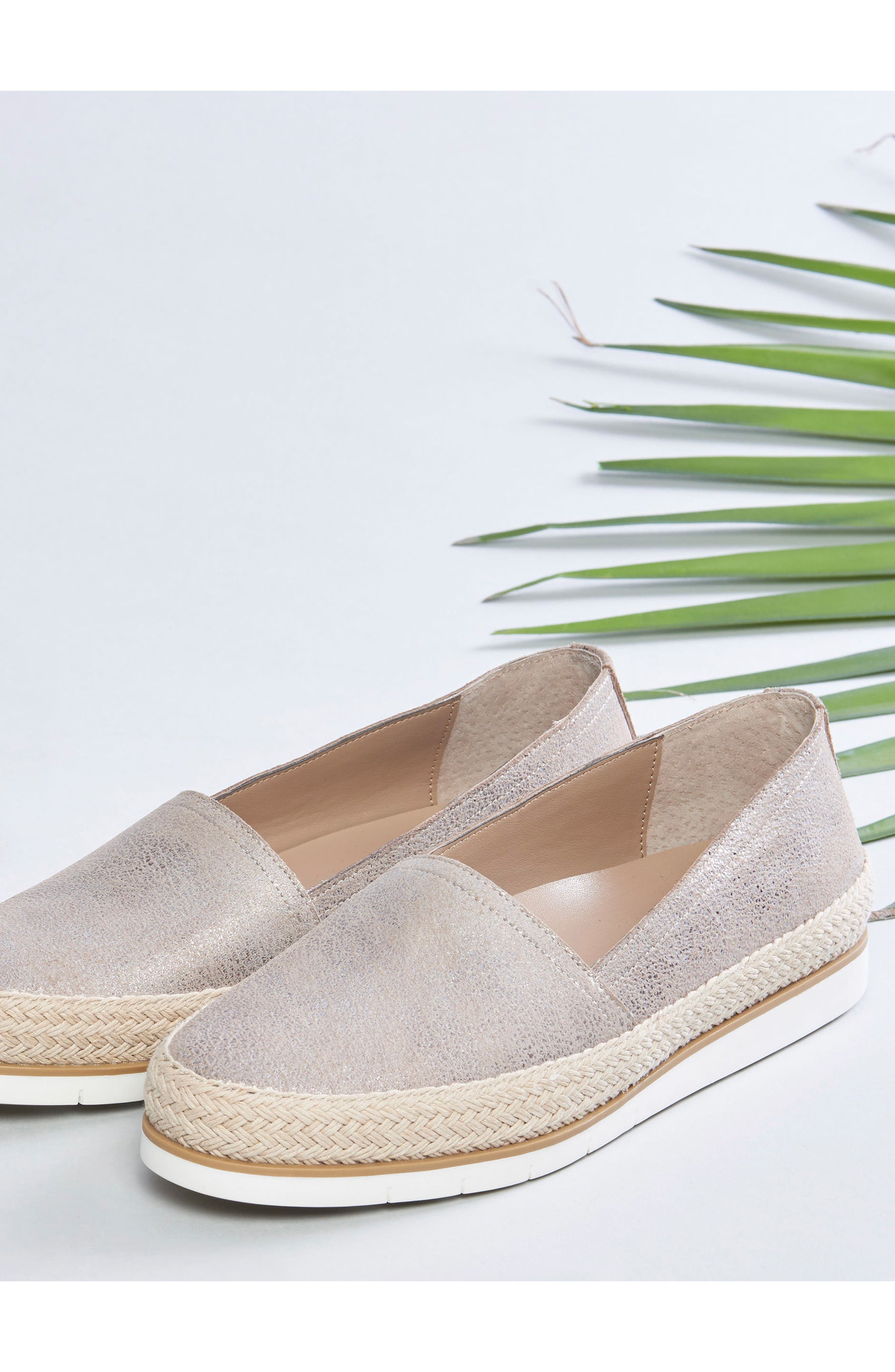 Palm Slip-On Sneaker,                             Alternate thumbnail 7, color,                             TAUPE FABRIC