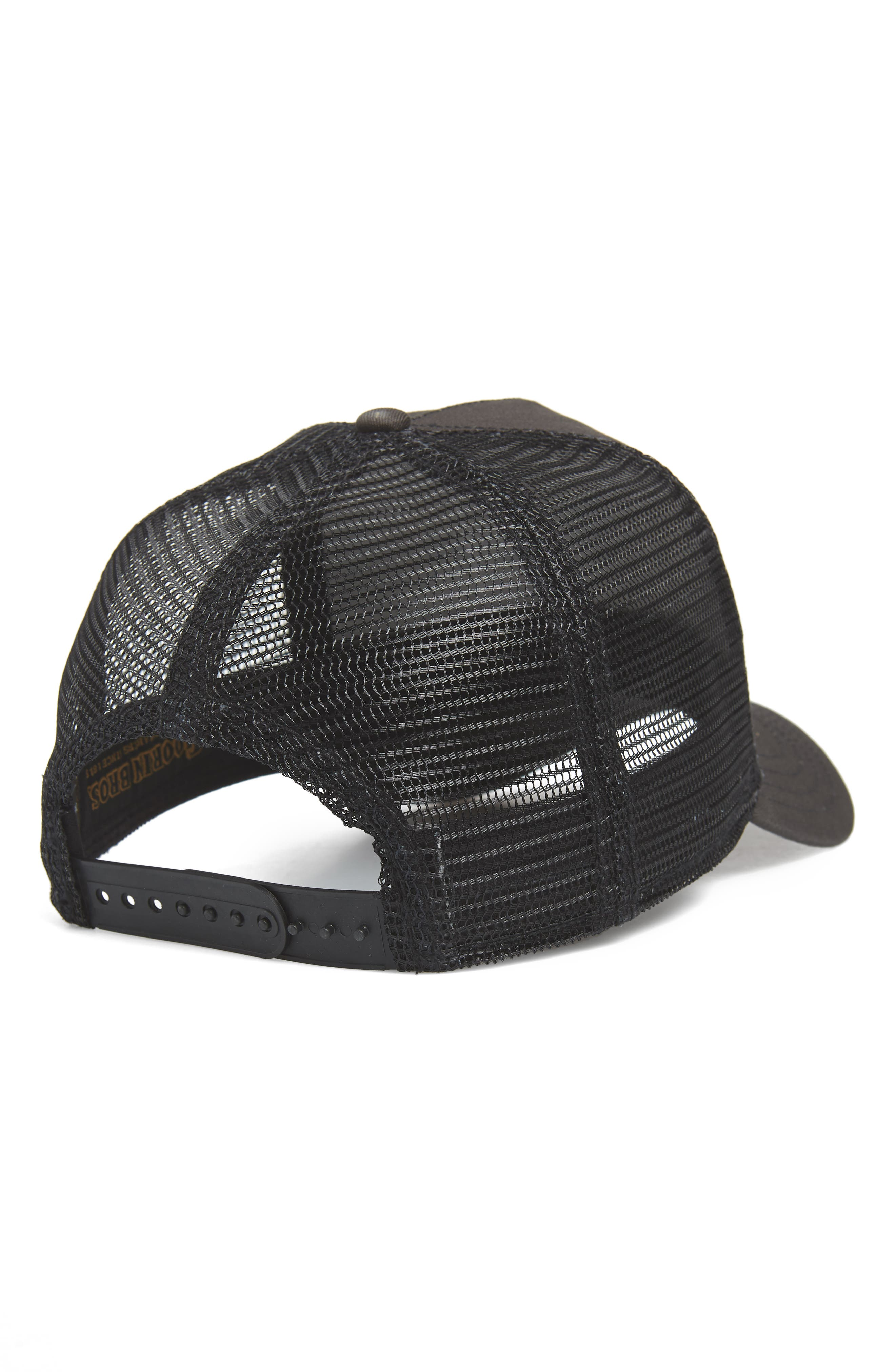 GOORIN BROTHERS,                             Butch Trucker Cap,                             Alternate thumbnail 2, color,                             BLACK