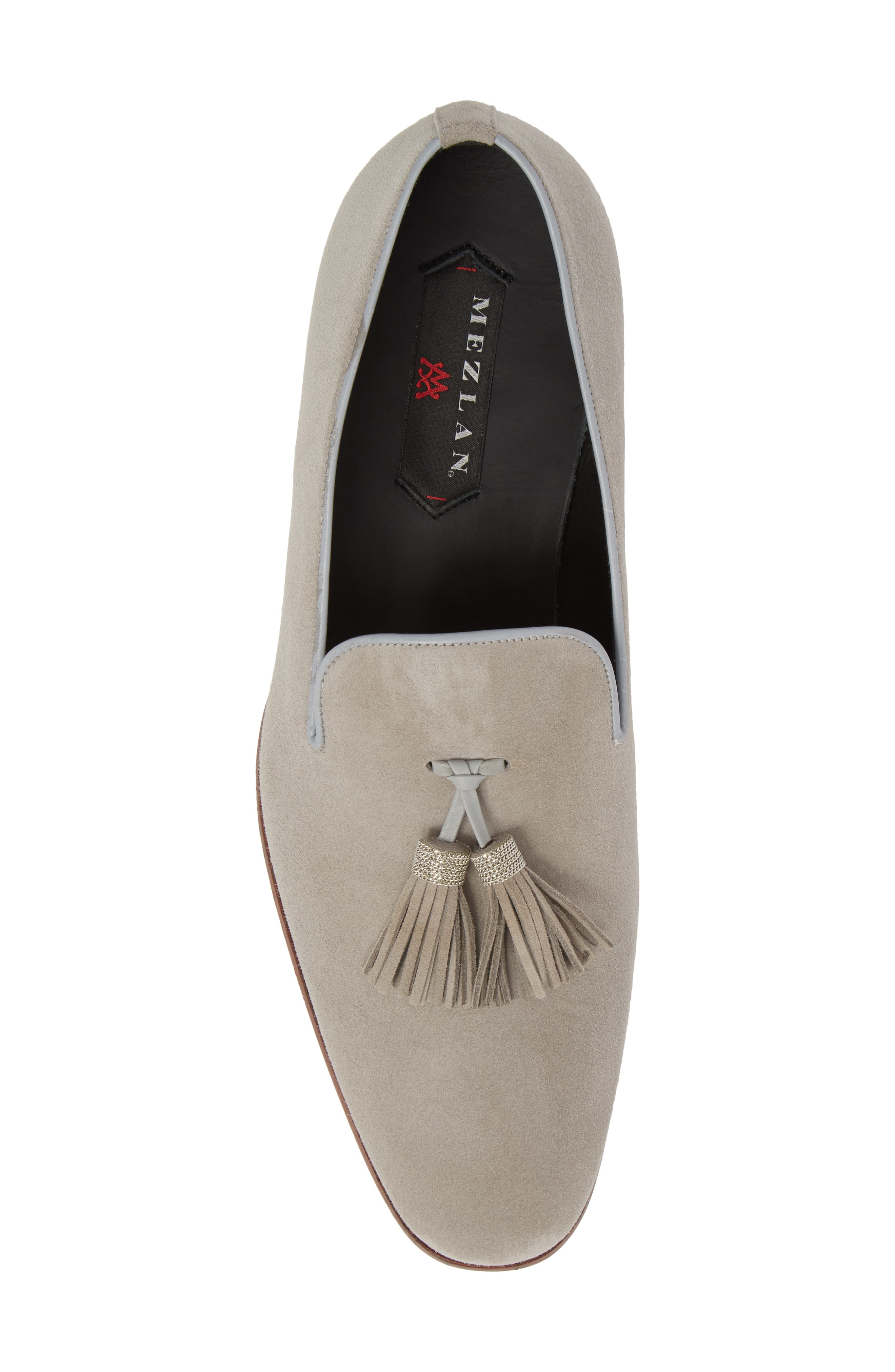 Picus Tassel Loafer,                             Alternate thumbnail 5, color,                             PEARL GREY SUEDE