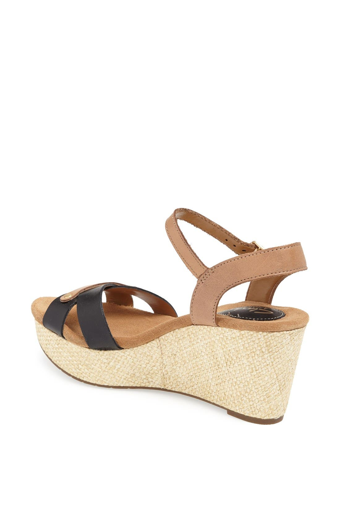 CLARKS<SUP>®</SUP>,                             'Caslynn Regina' Sandal,                             Alternate thumbnail 2, color,                             005