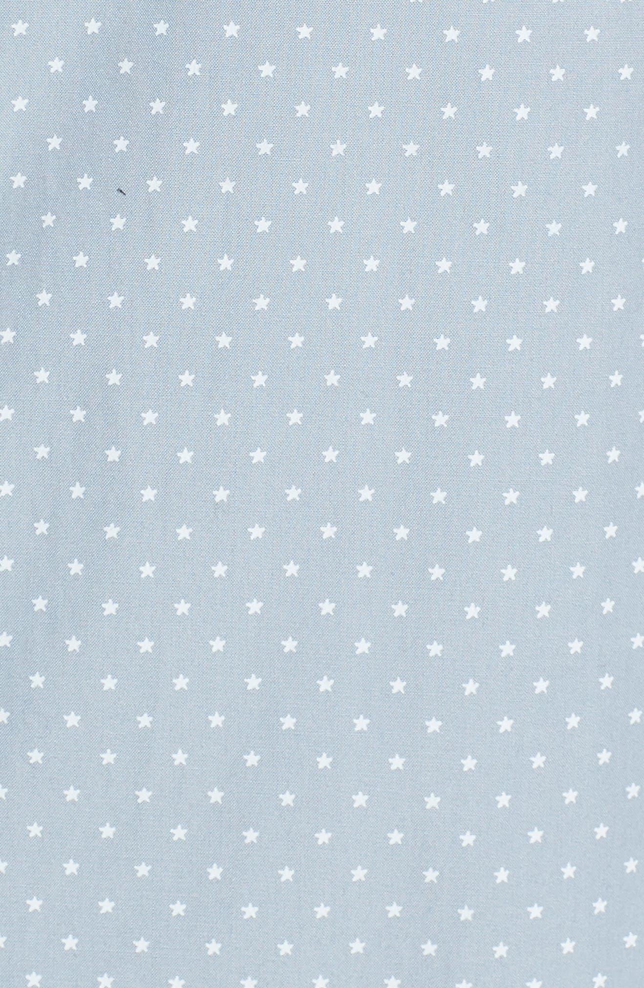 Classic Fit Micro Star Short Sleeve Sport Shirt,                             Alternate thumbnail 5, color,                             ARCTIC