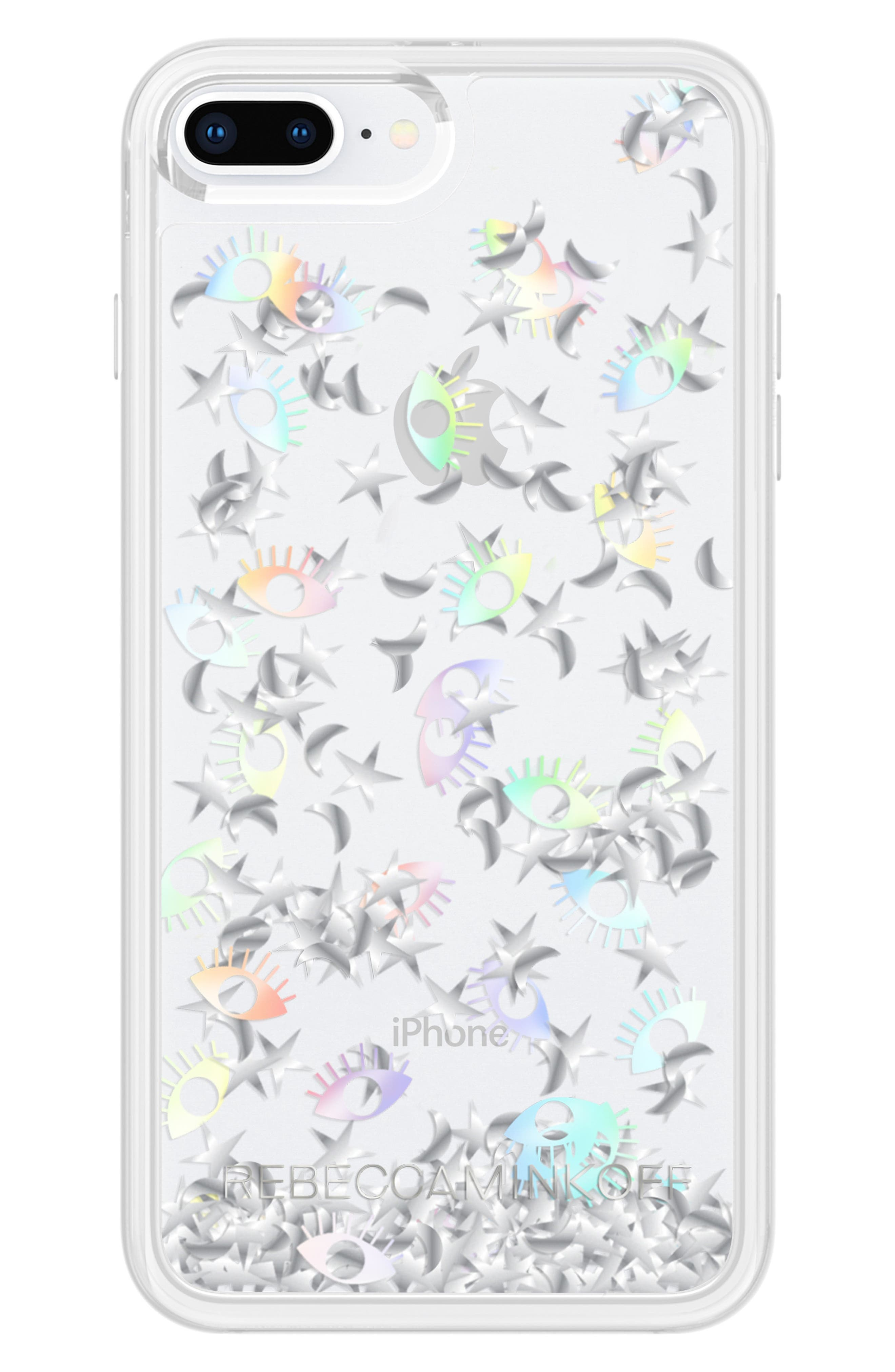 Galaxy Icon Glitterfall iPhone 7/8 & 7/8 Plus Case,                             Alternate thumbnail 4, color,                             HOLOGRAPHIC/ CLEAR