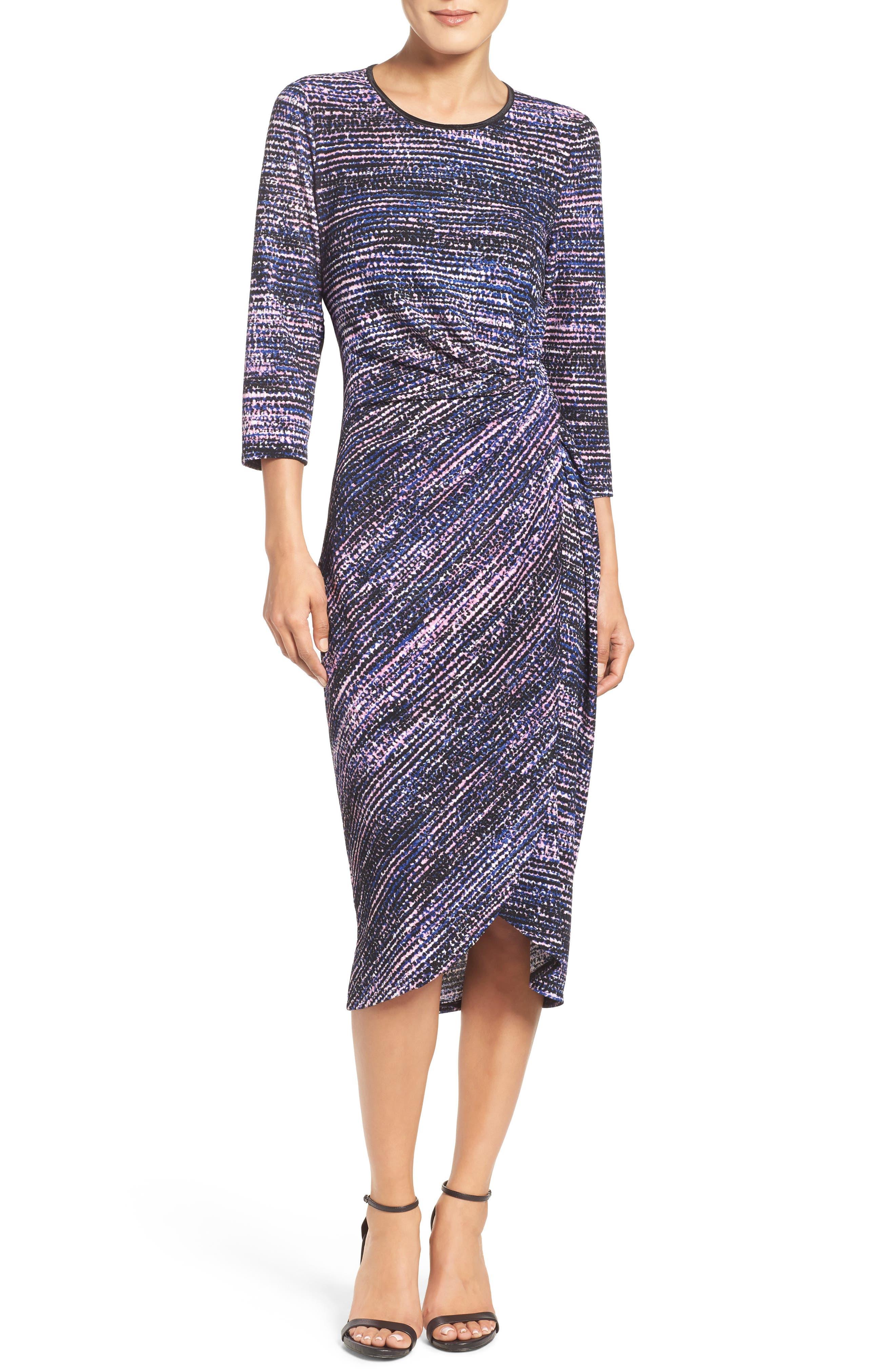 Faux Wrap Dress,                             Main thumbnail 1, color,                             654