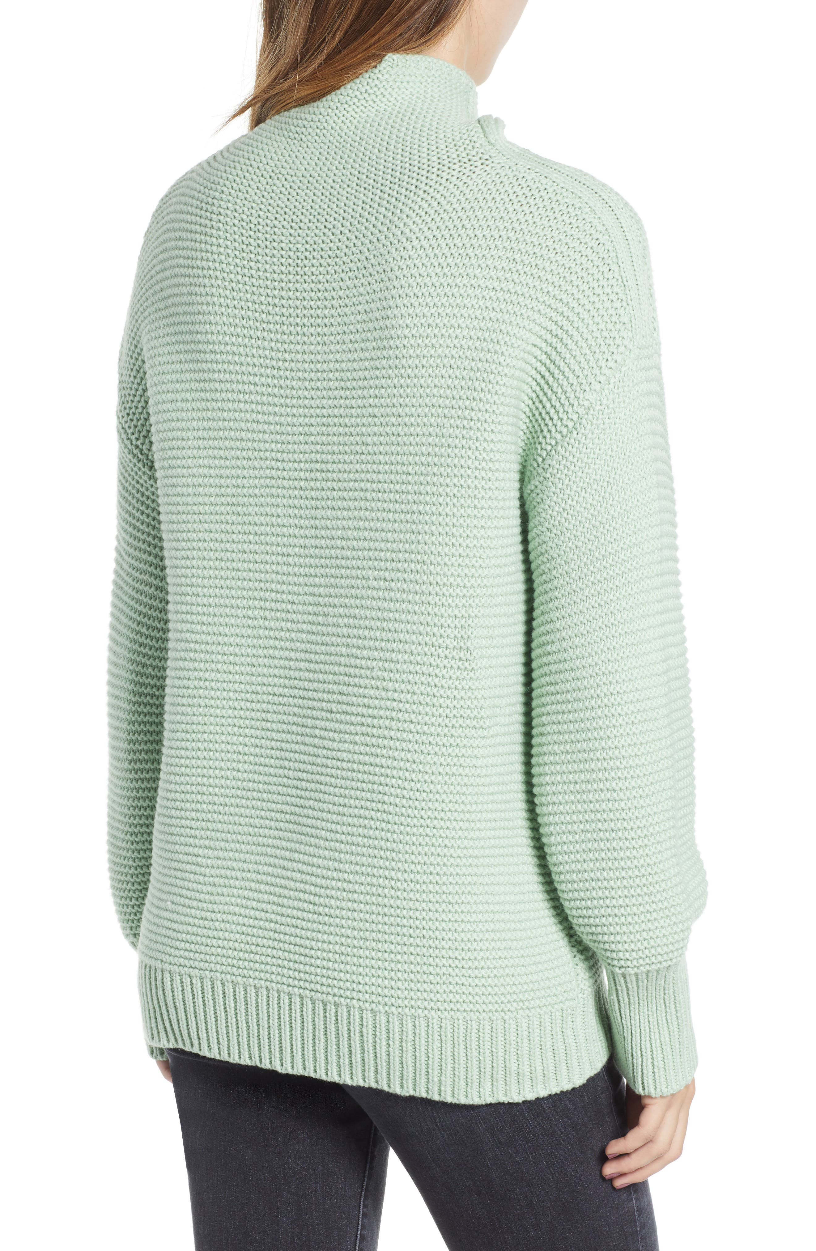 Turtleneck Sweater,                             Alternate thumbnail 2, color,                             GREEN GHOST