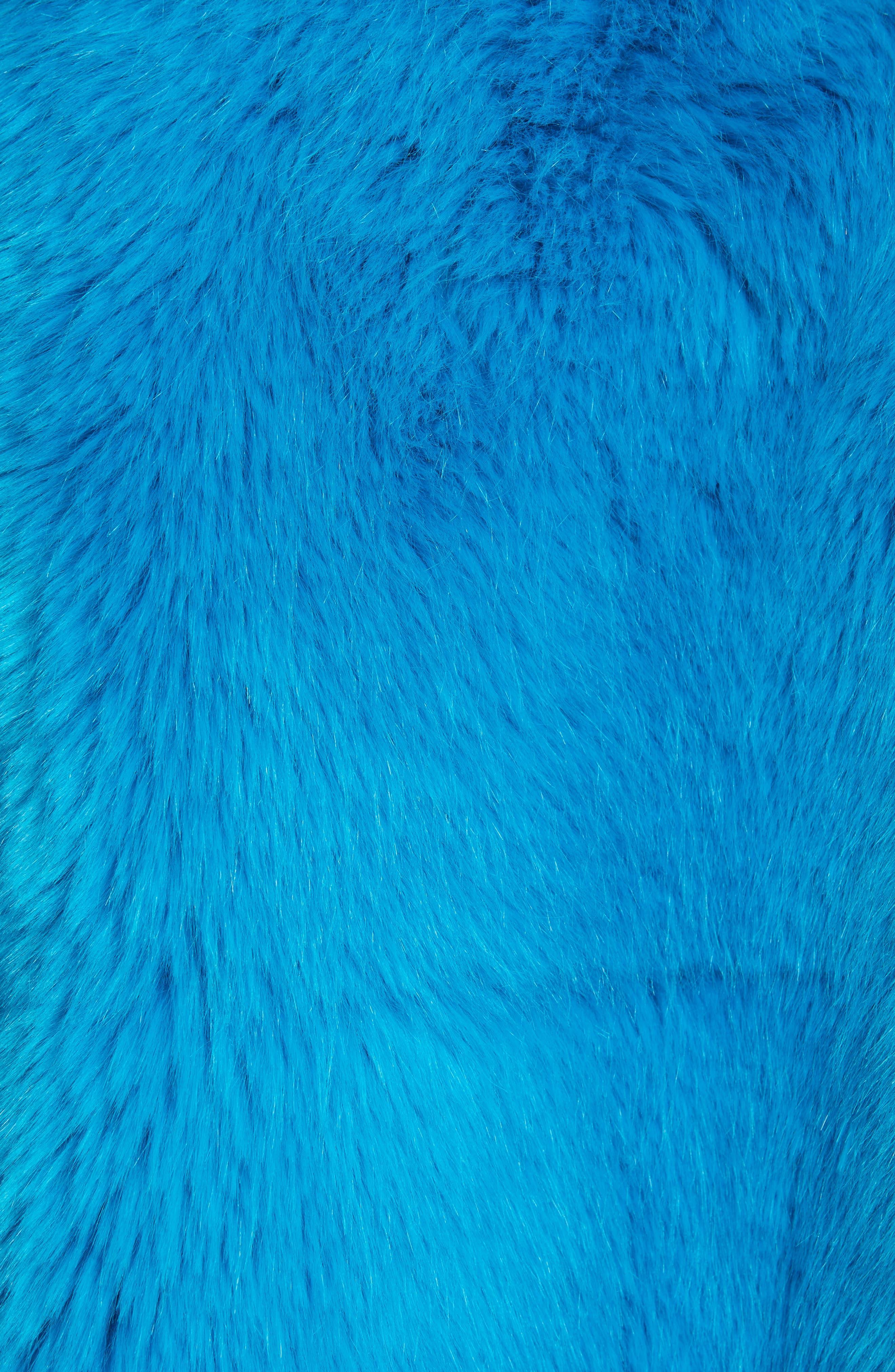 DIANE VON FURSTENBERG,                             Faux Fur Jacket,                             Alternate thumbnail 5, color,                             403