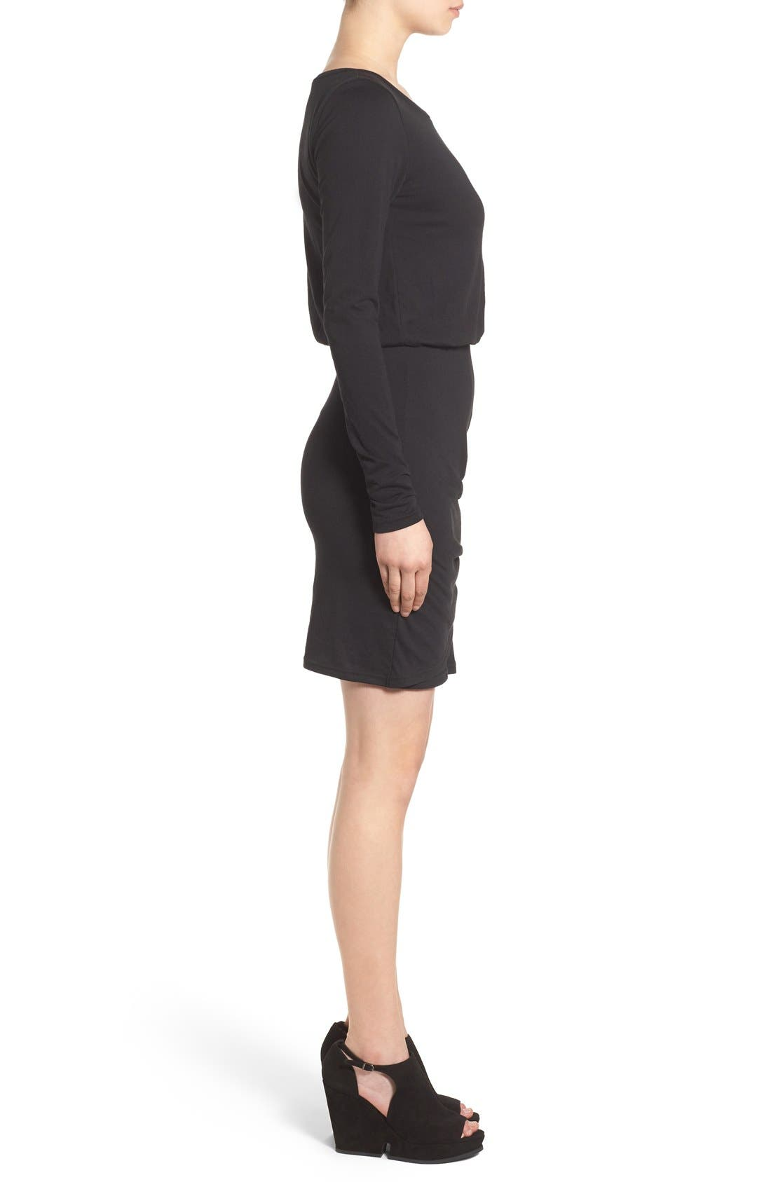 Blouson Body-Con Dress,                             Alternate thumbnail 2, color,                             001