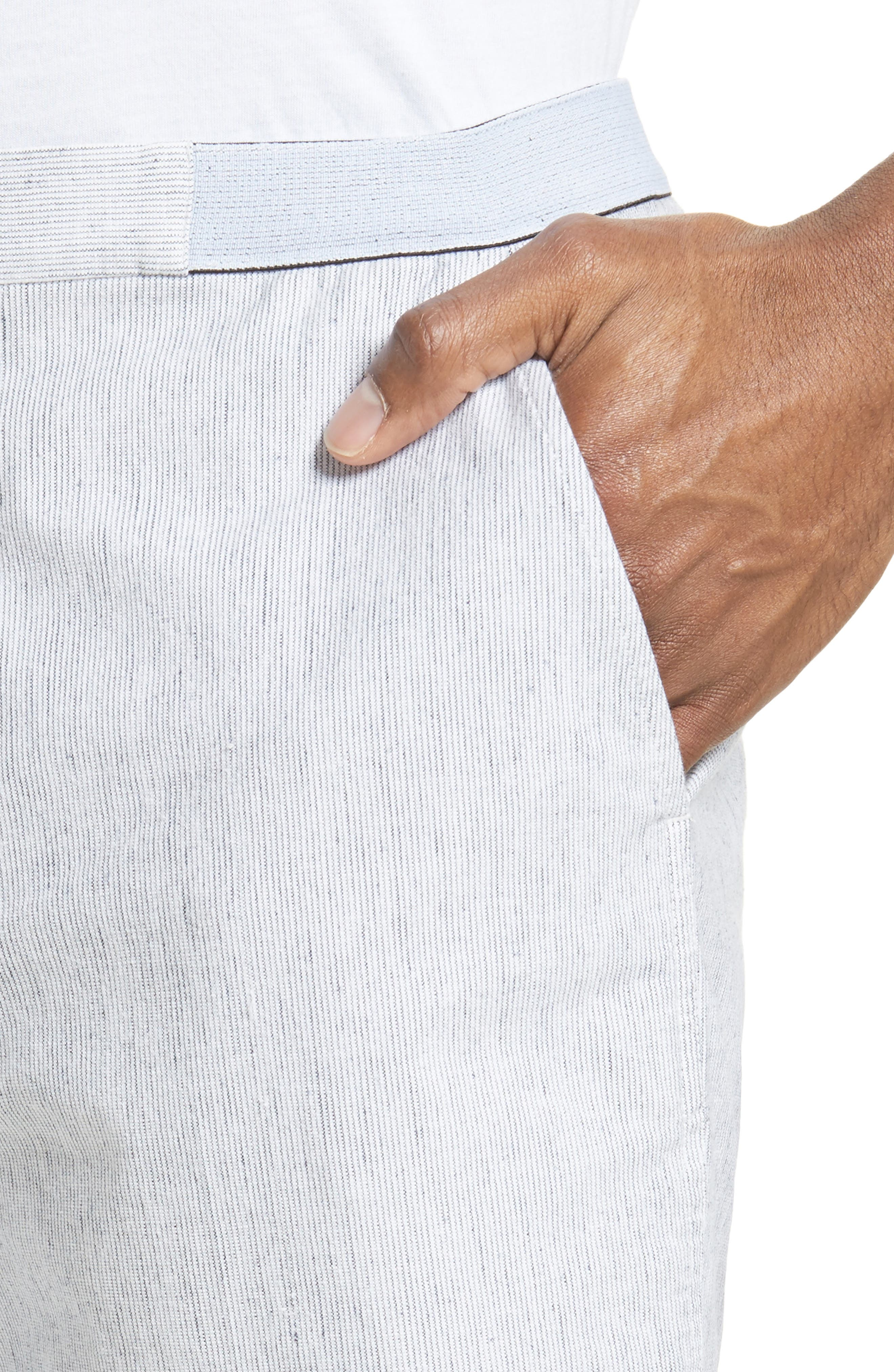 Elastic Waist Seersucker Shorts,                             Alternate thumbnail 3, color,                             410