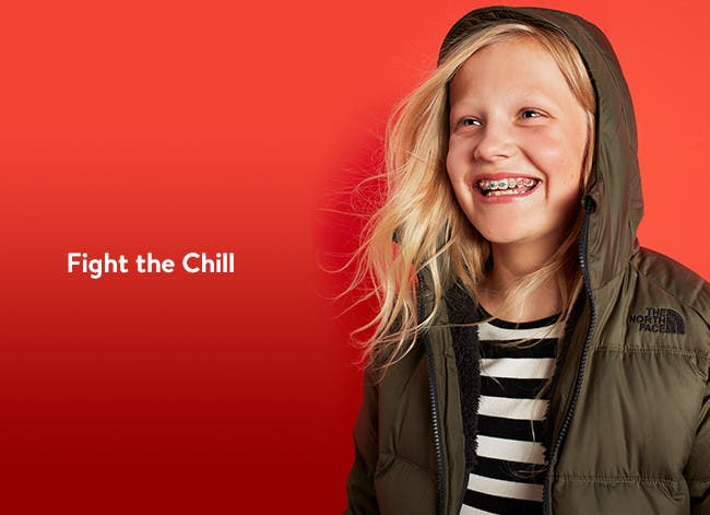 Fight the chill in girls' coats and jackets from The North Face and more.