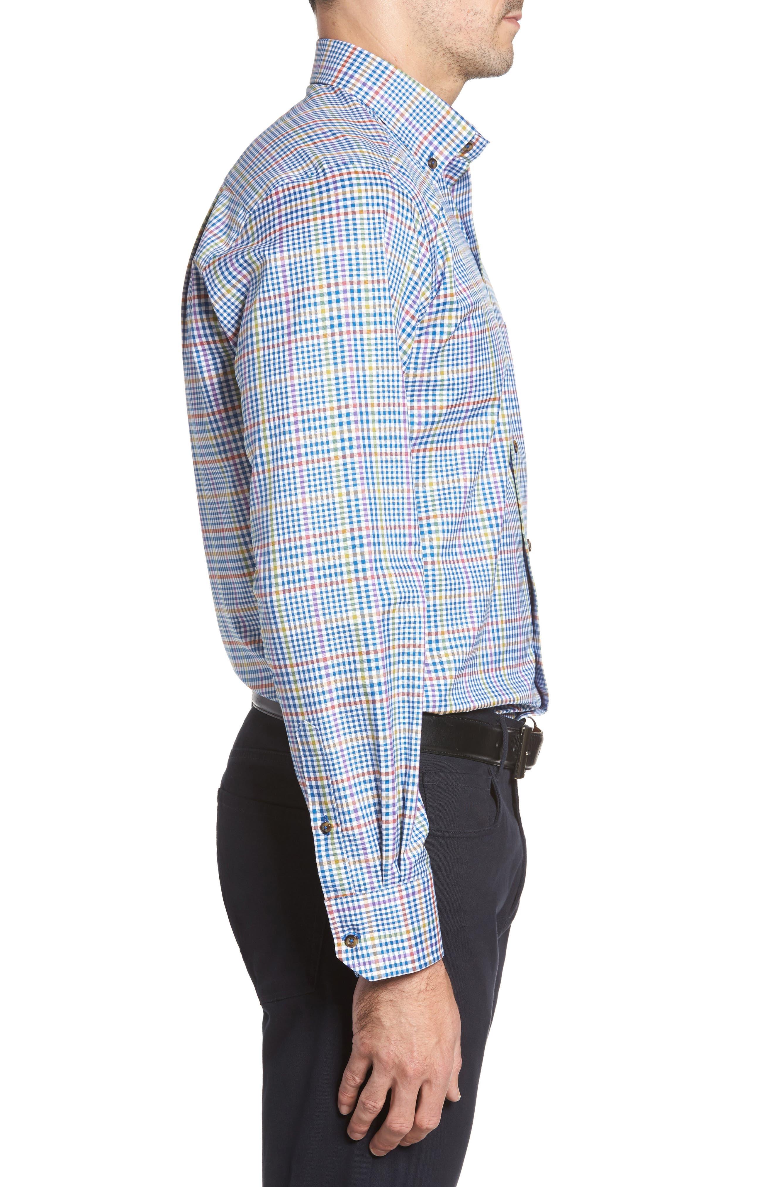 Regular Fit Plaid Sport Shirt,                             Alternate thumbnail 3, color,                             423