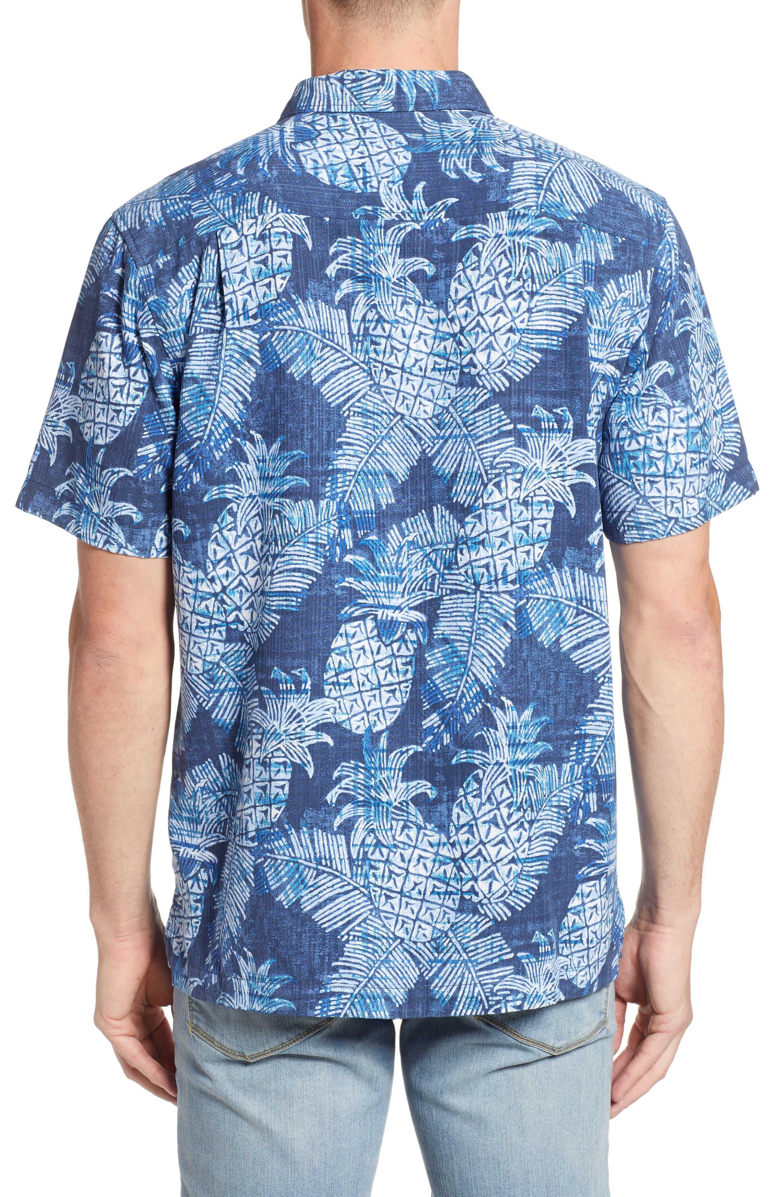 Coastal Colada Silk Blend Camp Shirt,                             Alternate thumbnail 2, color,                             ZEPHYR BLUE