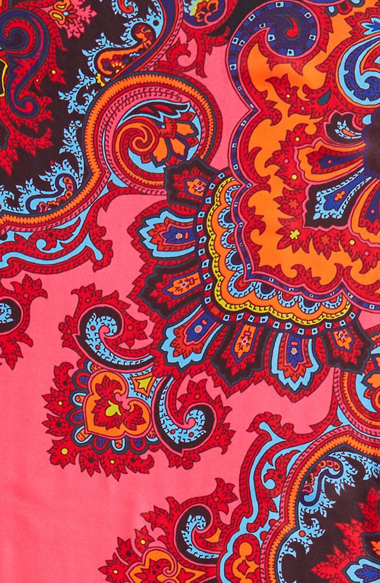London Nights Square Silk Scarf,                             Alternate thumbnail 8, color,