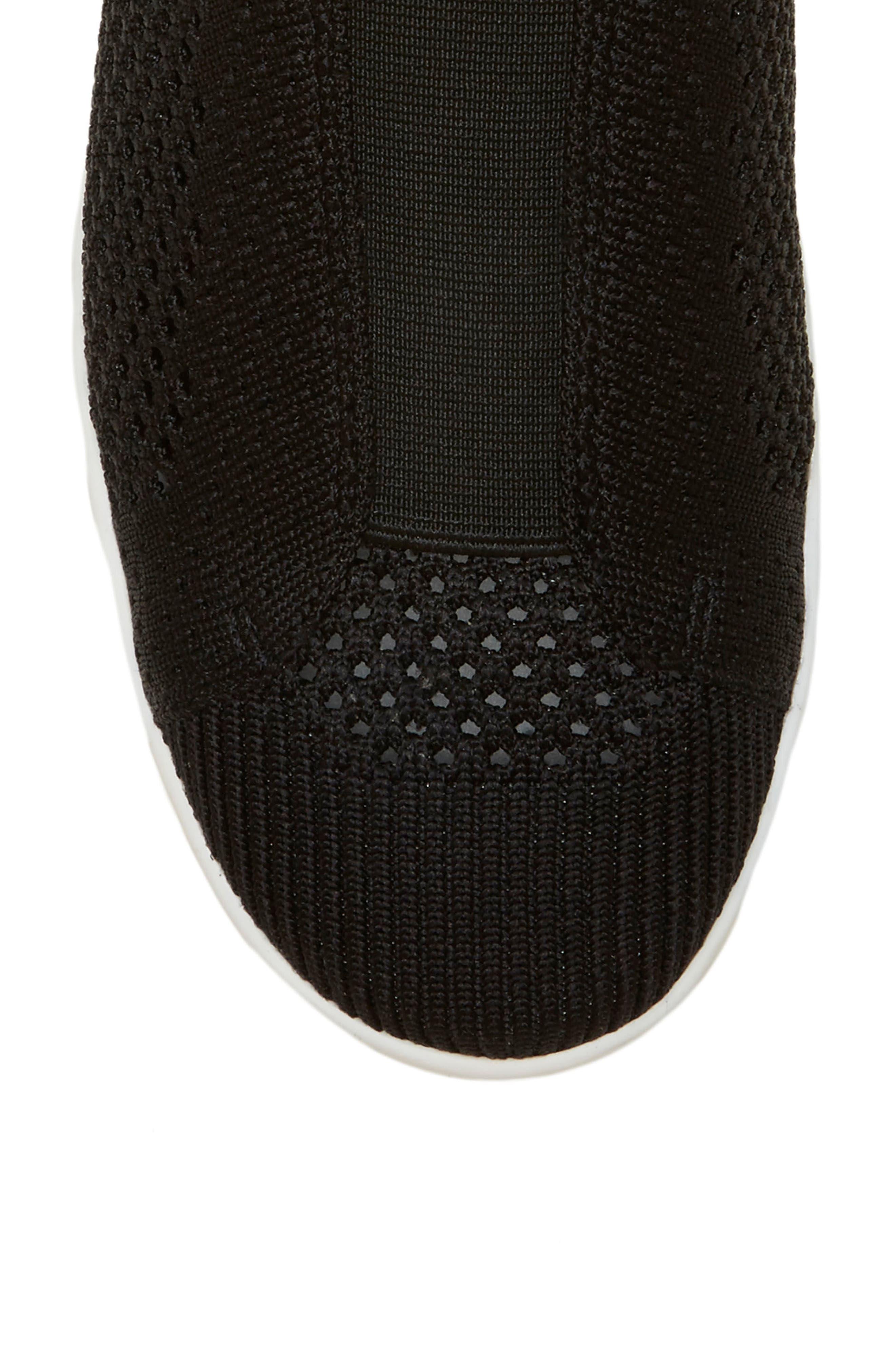 Casbey Slip-On Sneaker,                             Alternate thumbnail 5, color,                             BLACK/ BLACK FABRIC